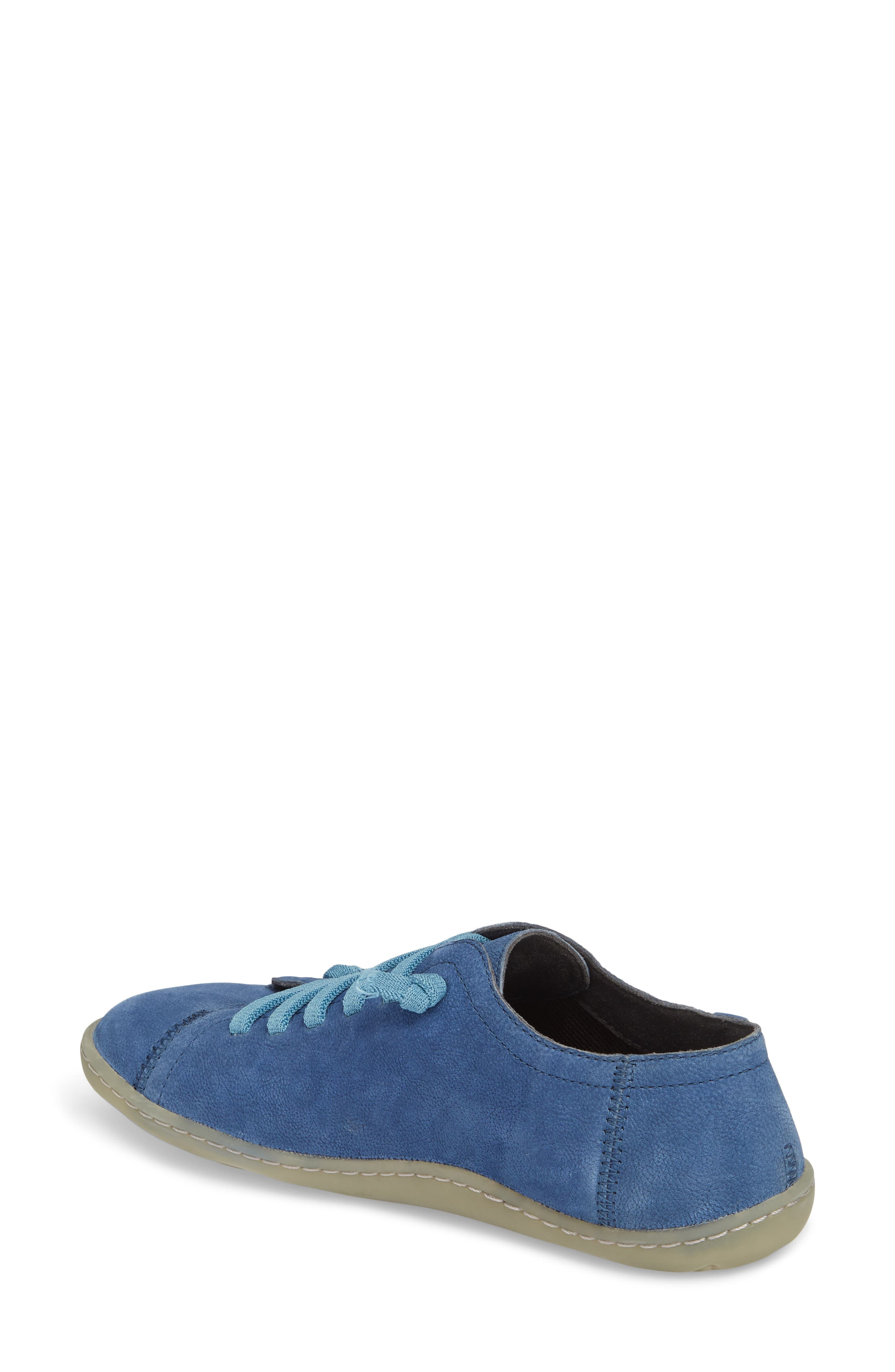 'Peu Cami' Leather Sneaker,                             Alternate thumbnail 2, color,                             Medium Blue Suede
