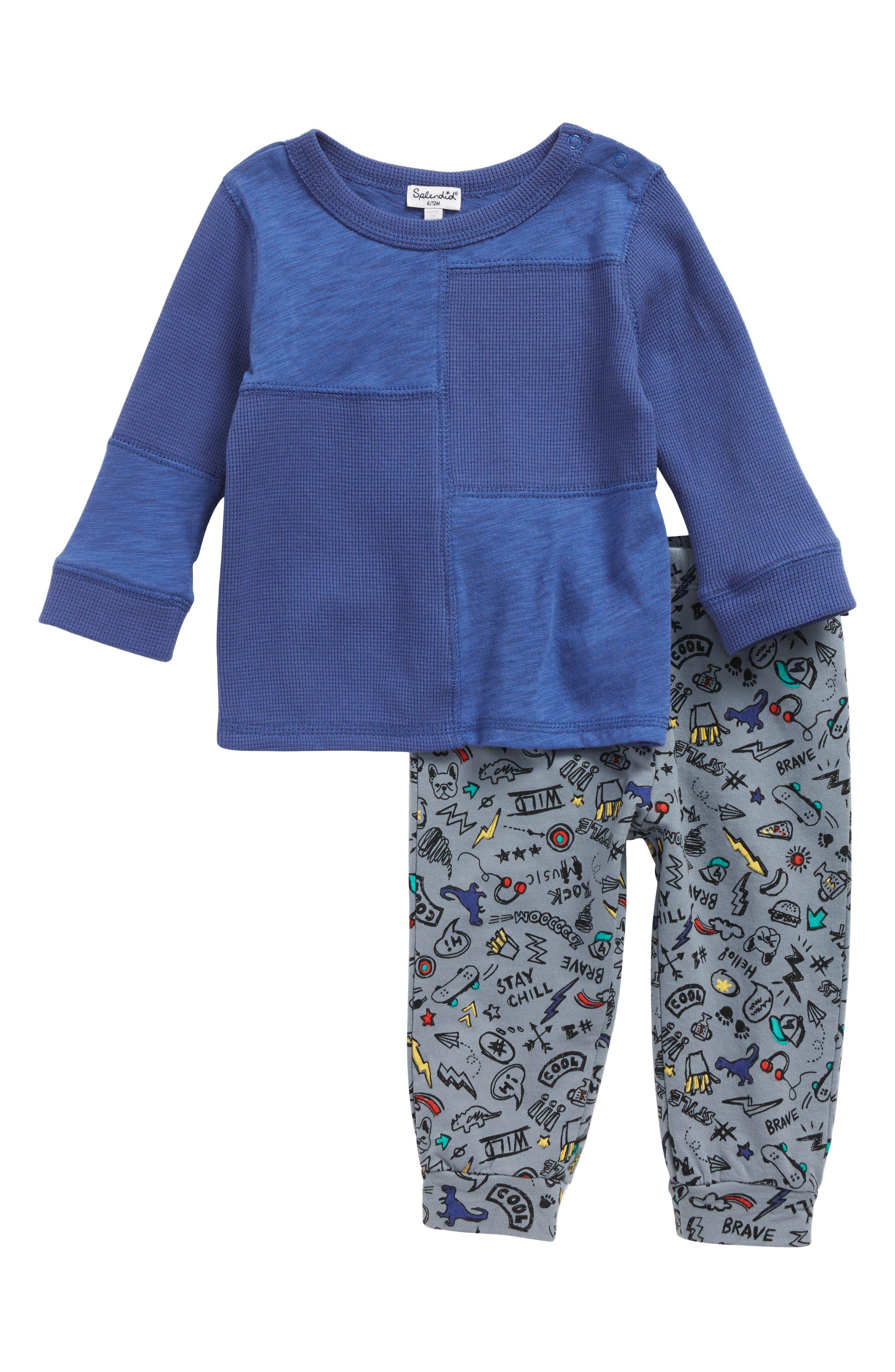 Splendid Rock & Music T-Shirt & Jogger Pants Set (Baby Boys)