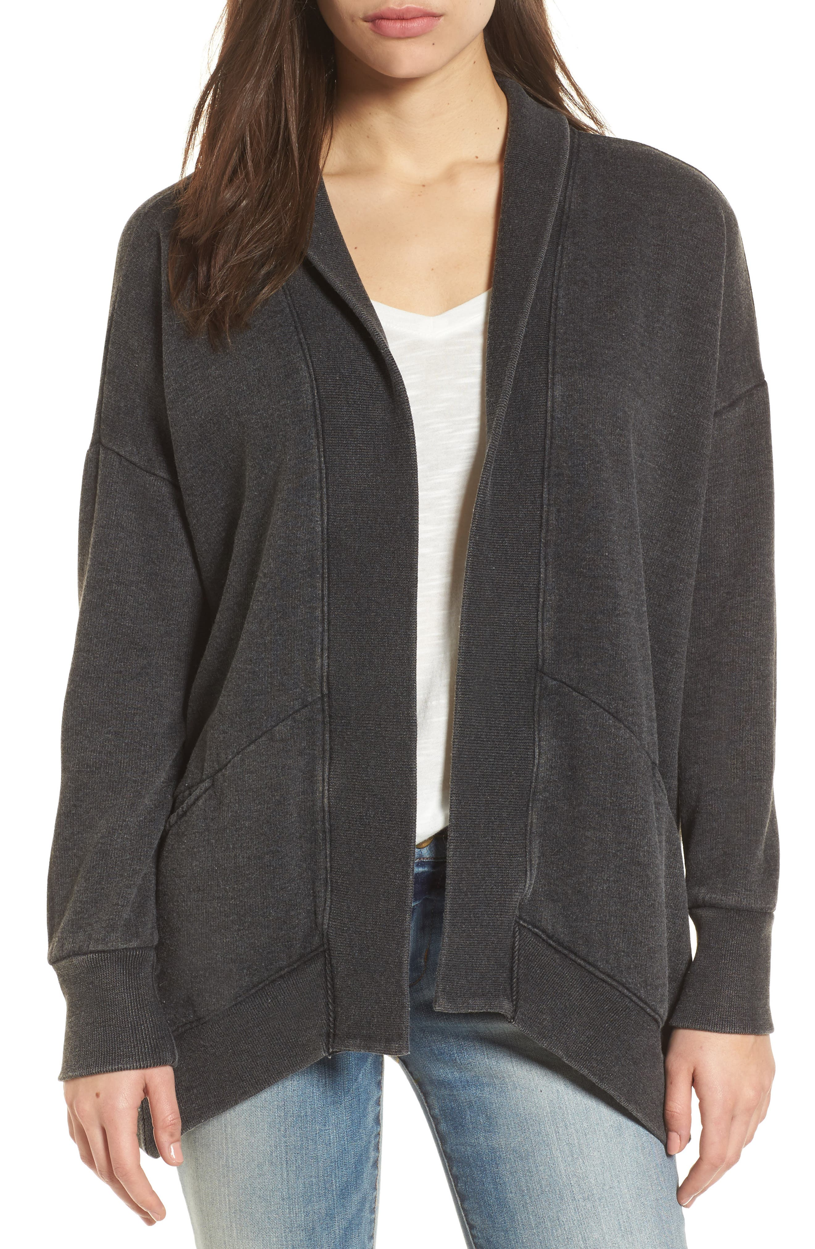 Main Image - Lucky Brand Lace-Up Back Cardigan