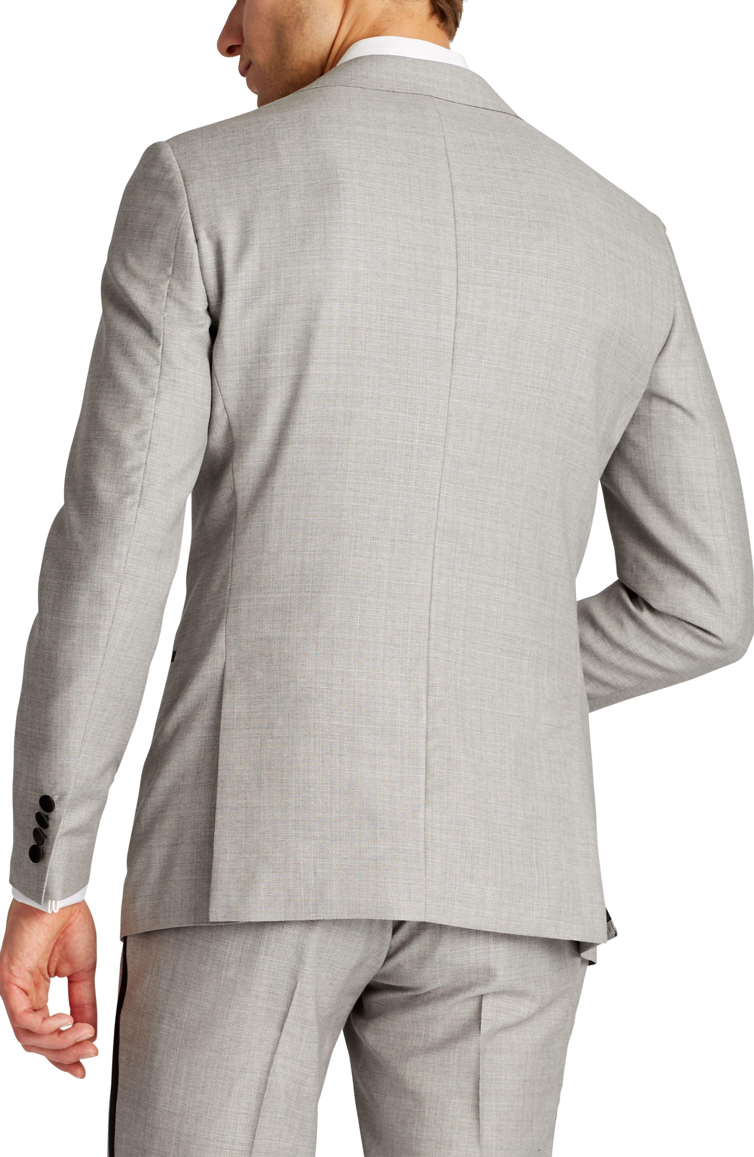 Capstone Slim Fit Wool Dinner Jacket,                             Alternate thumbnail 2, color,                             Pearl Grey
