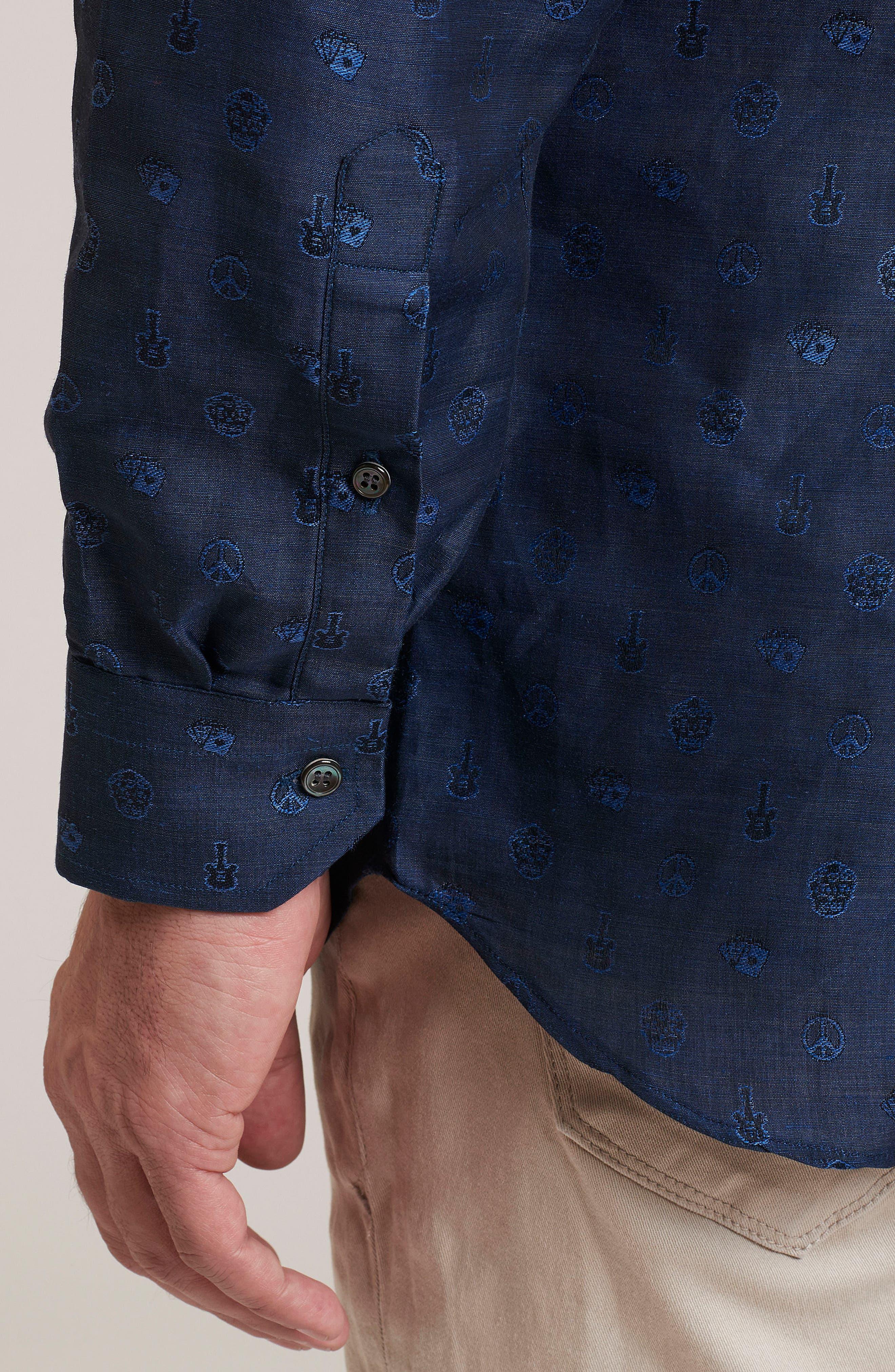 Alternate Image 3  - Robert Graham Amusement Regular Fit Embroidered Sport Shirt