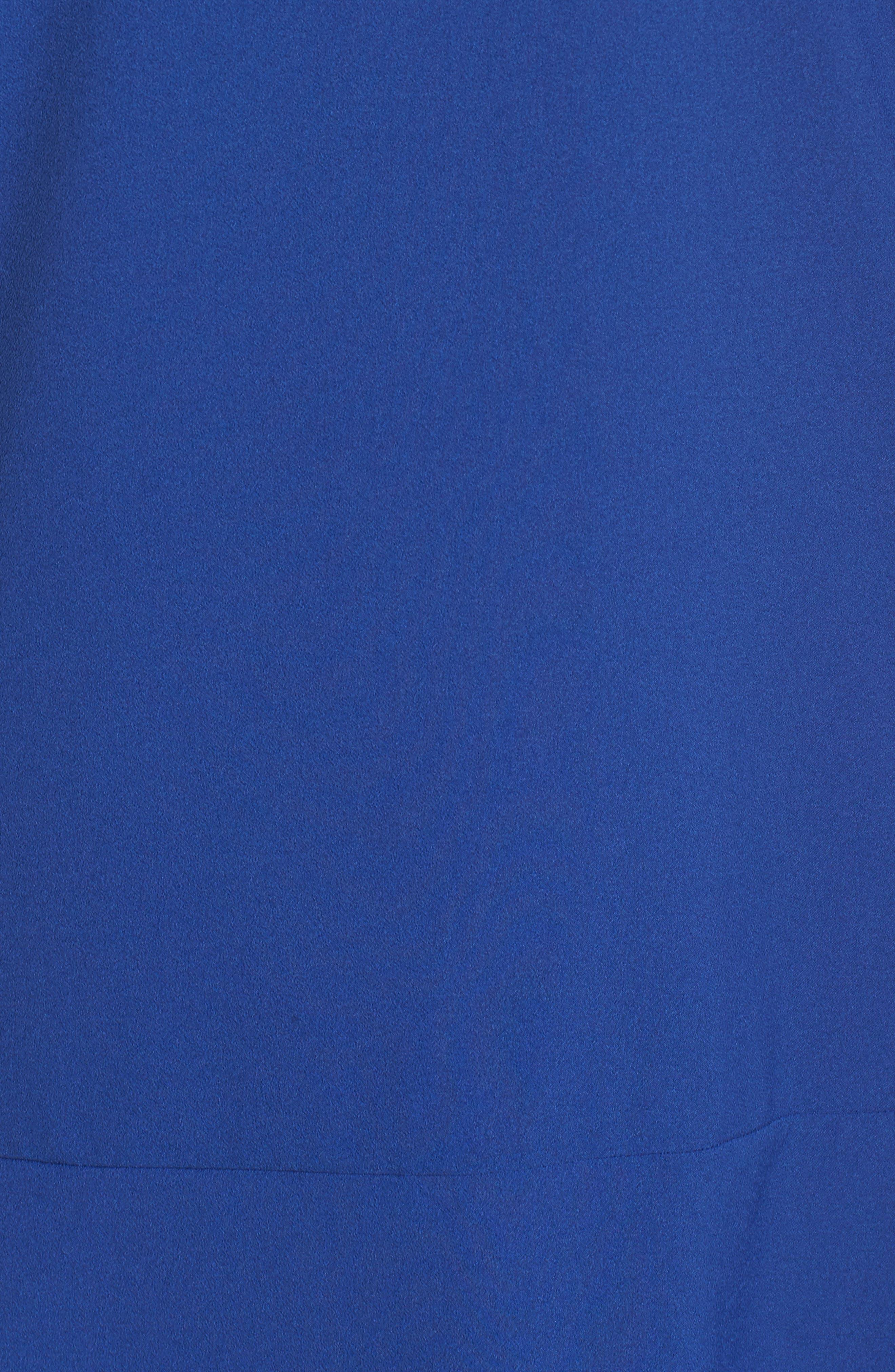 Long Sleeve Shift Dress,                             Alternate thumbnail 5, color,                             Cobalt