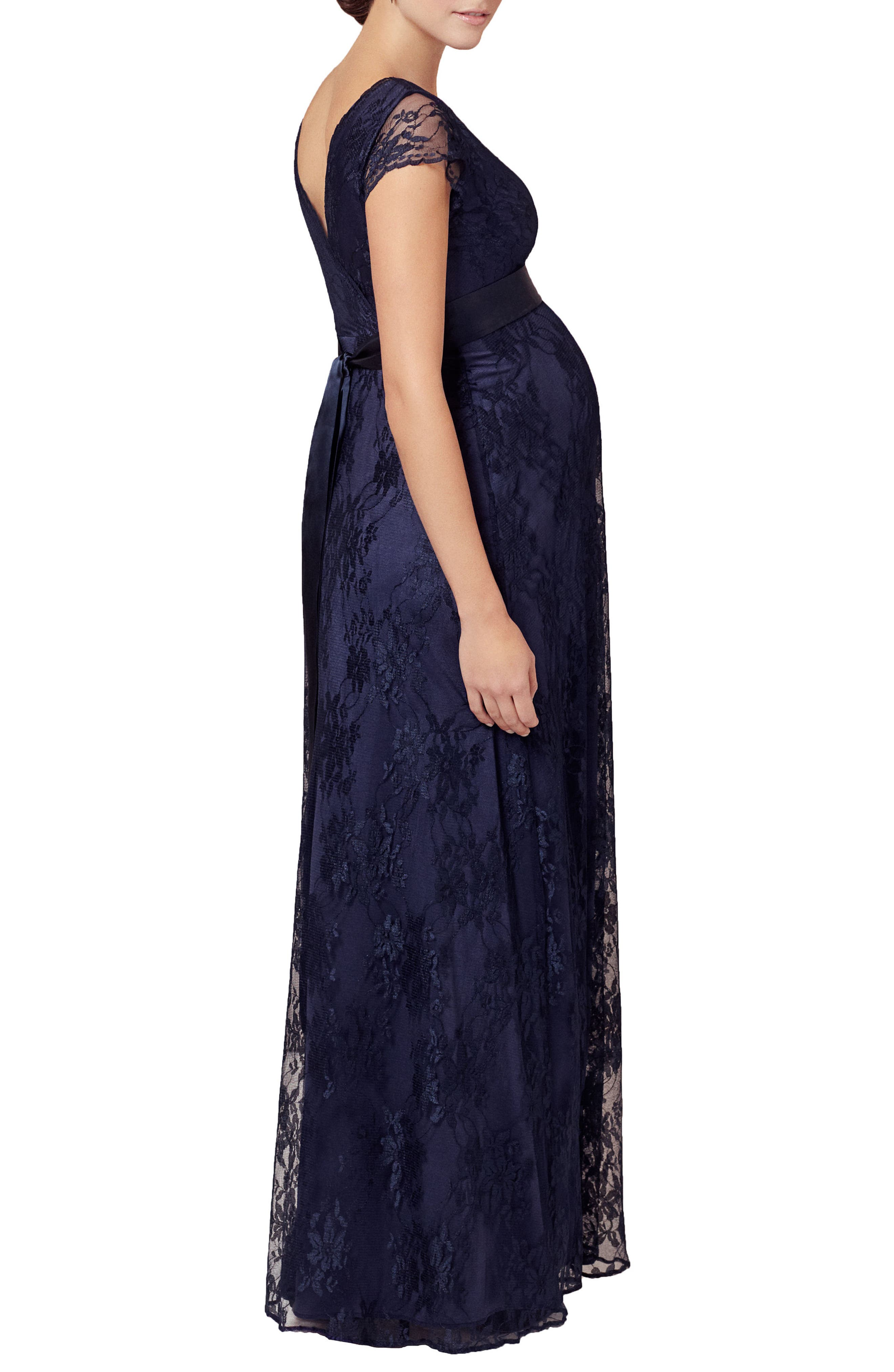 Eden Lace Maternity Gown,                             Alternate thumbnail 3, color,                             Arabian Nights