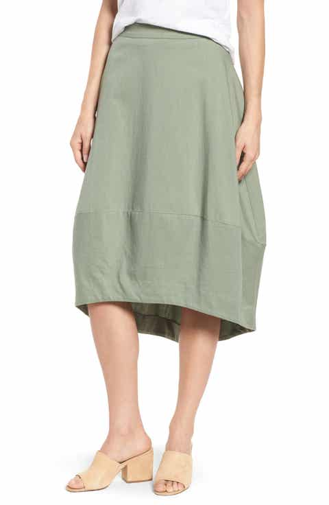 Eileen Fisher Organic Cotton Lantern Skirt