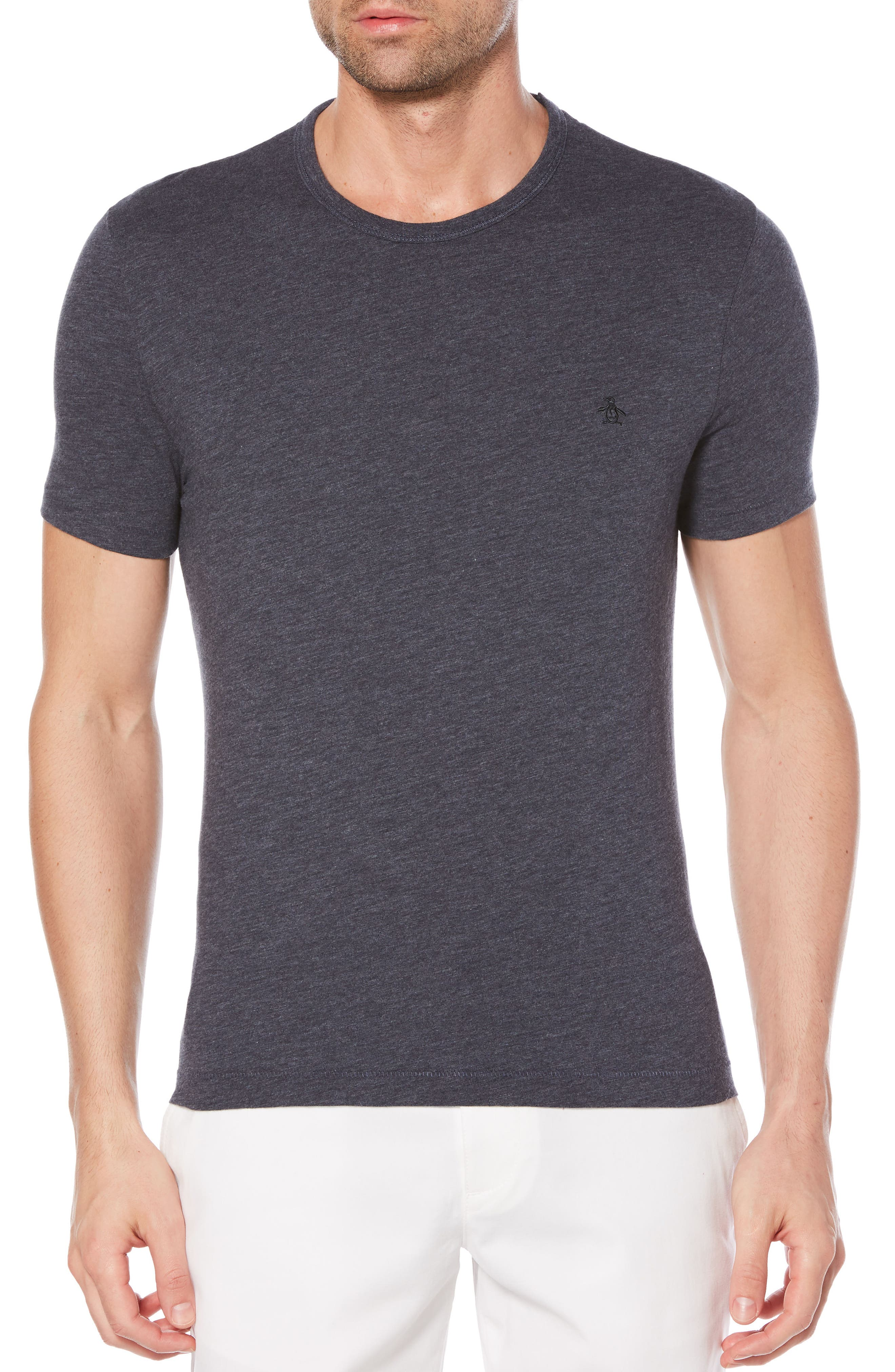 Heritage Slim Slub T-Shirt,                             Main thumbnail 1, color,                             Dark Sapphire