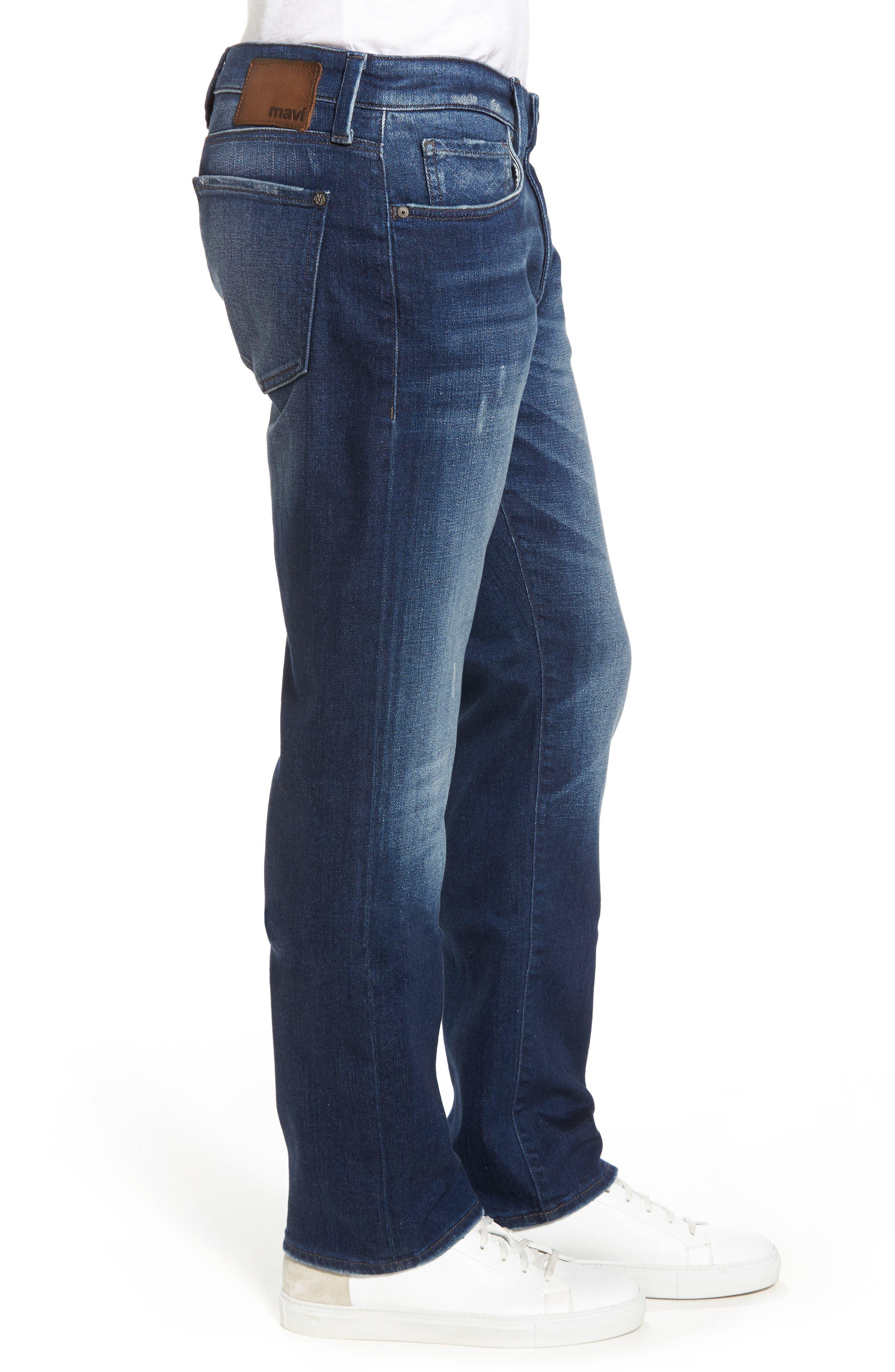 Zach Straight Leg Jeans,                             Alternate thumbnail 3, color,                             Dark Brooklyn