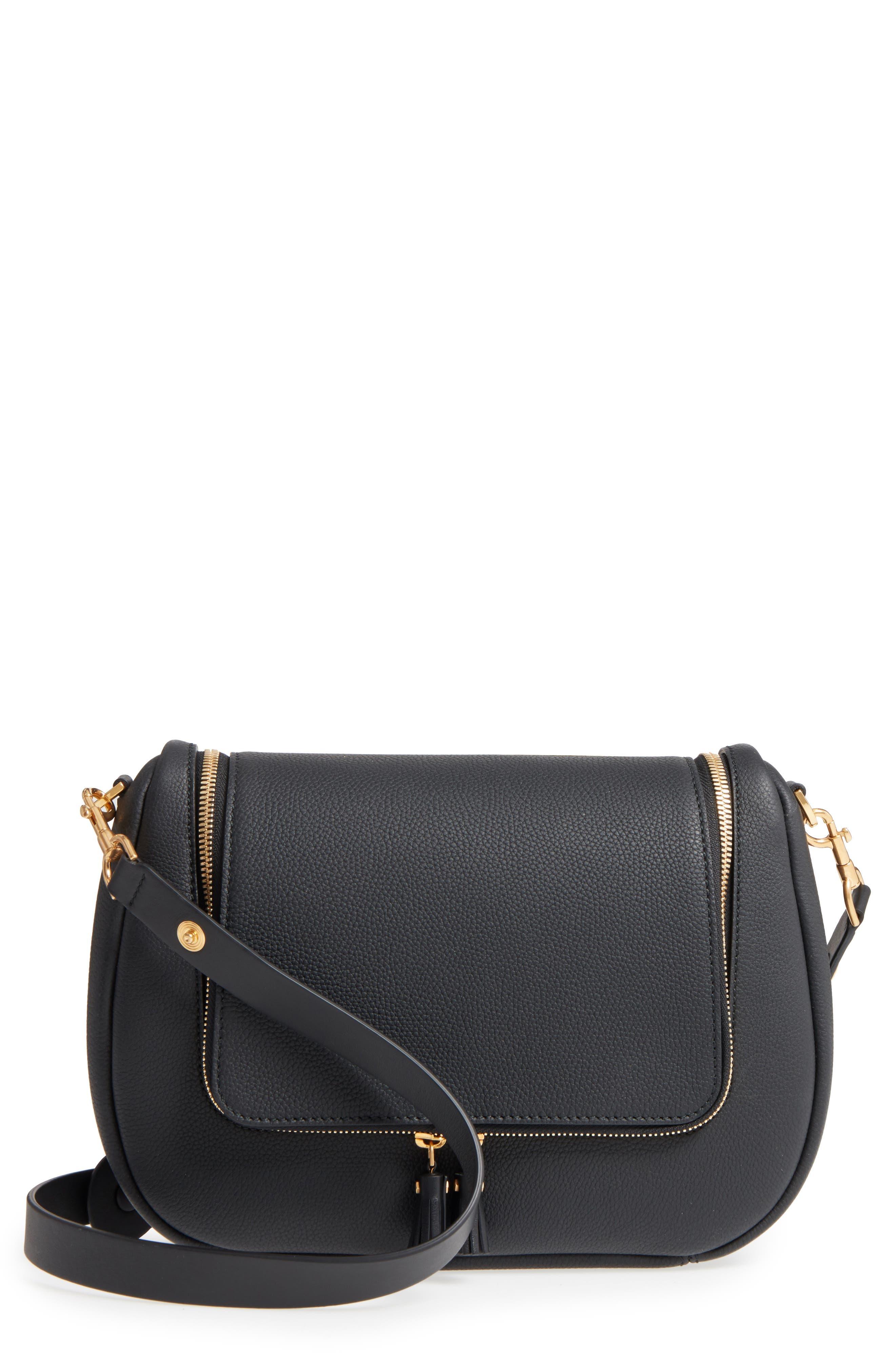 Mini Vere Soft Grained Leather Satchel,                             Main thumbnail 1, color,                             Black