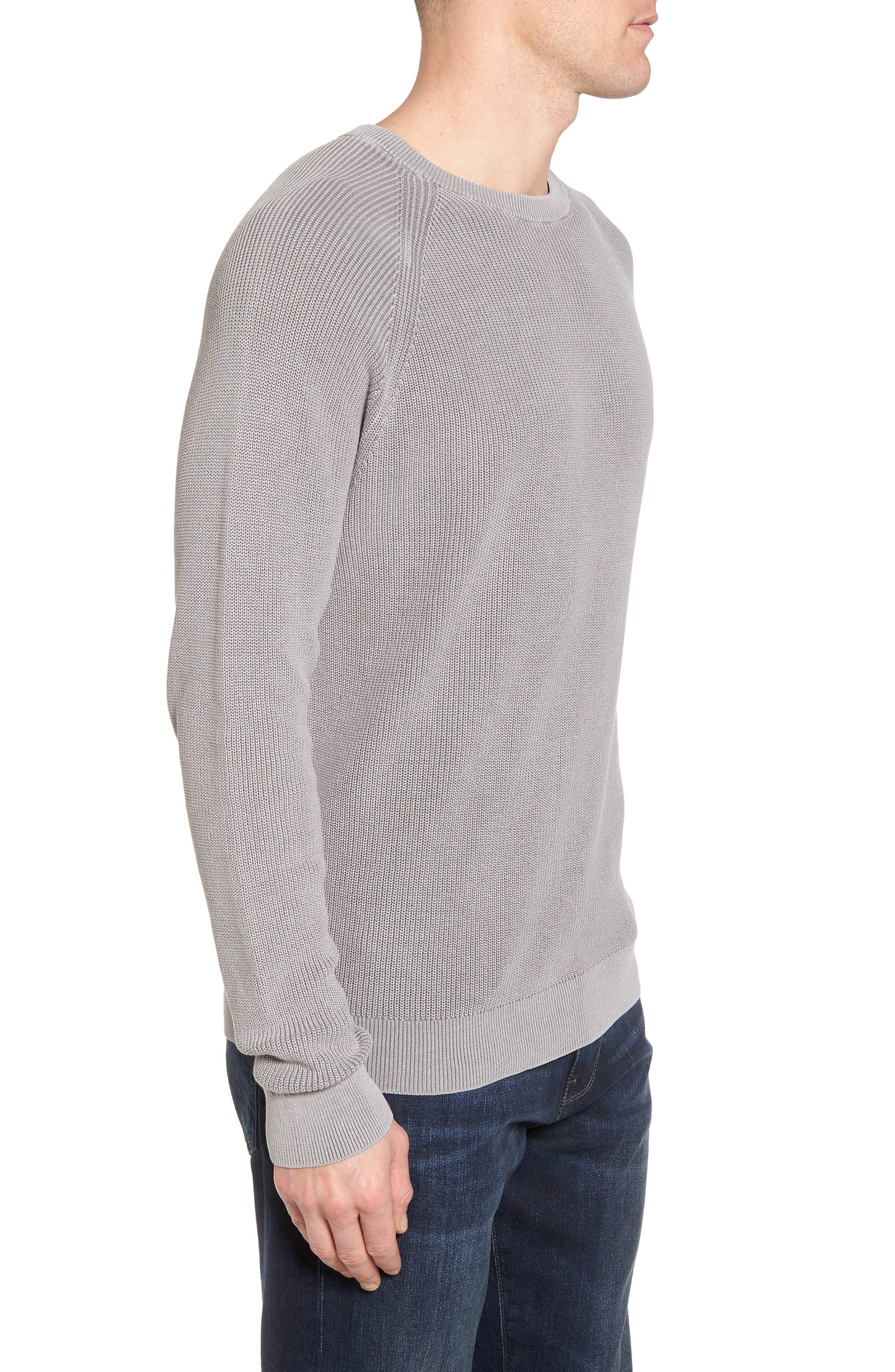 Crewneck Sweater,                             Alternate thumbnail 3, color,                             Grey Weather