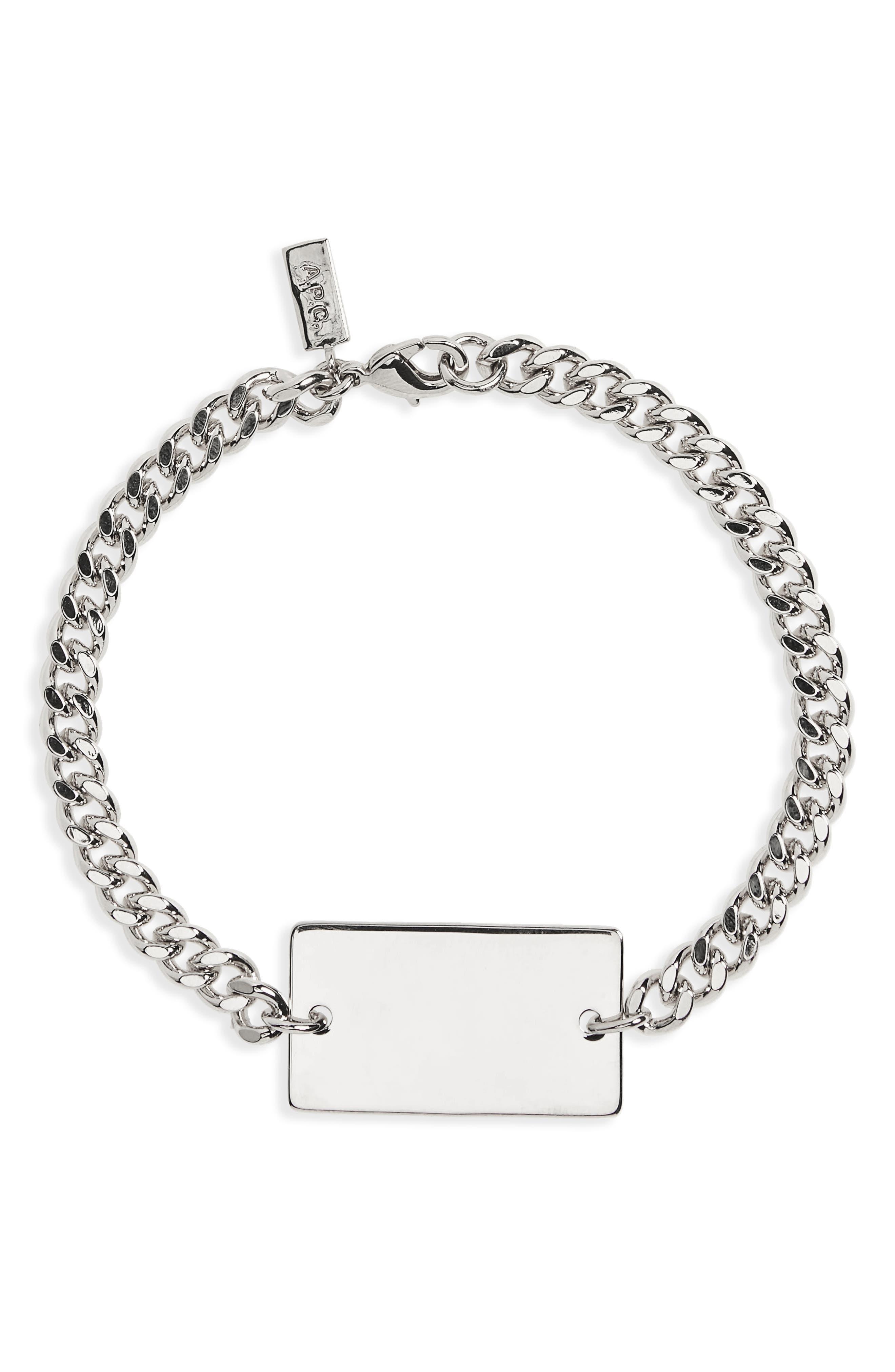 A.P.C. Pendant Chain Bracelet