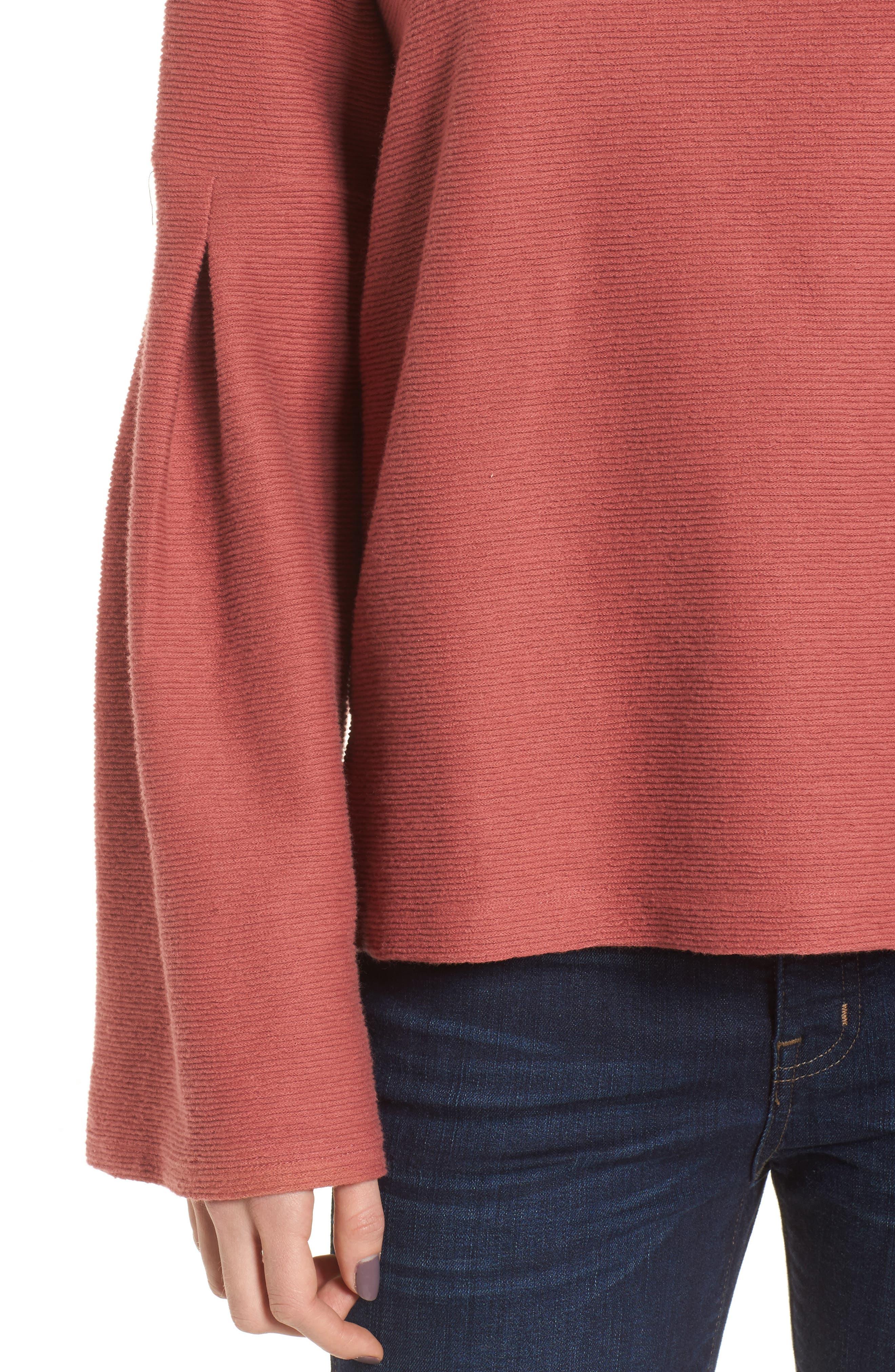 Alternate Image 4  - Madewell Flare Sleeve Ribbed Top