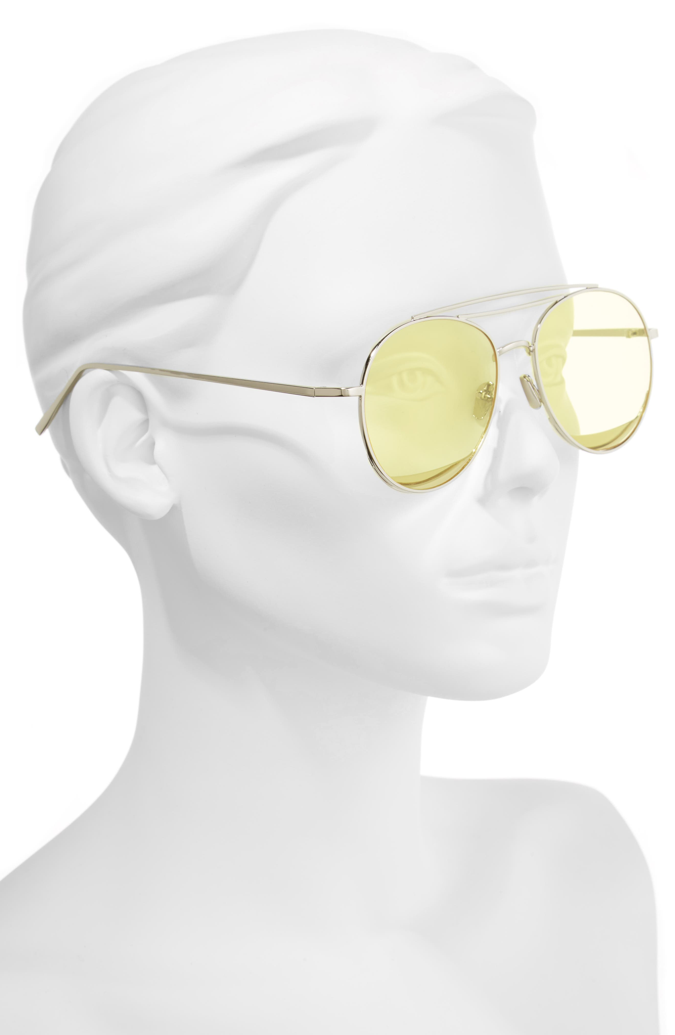 Alternate Image 2  - Shady Lady The Maddox 62mm Rimless Aviator Sunglasses