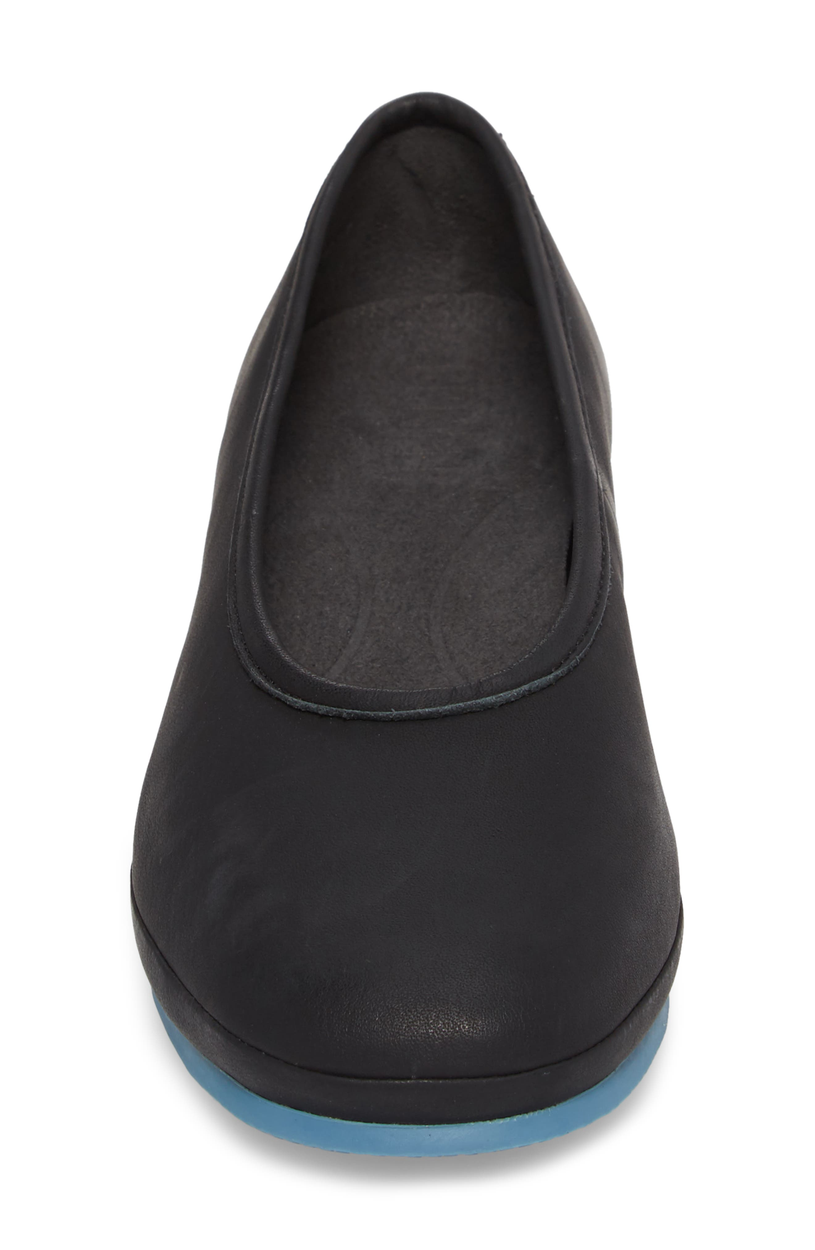 Alright Cone Heel Pump,                             Alternate thumbnail 4, color,                             Black Leather
