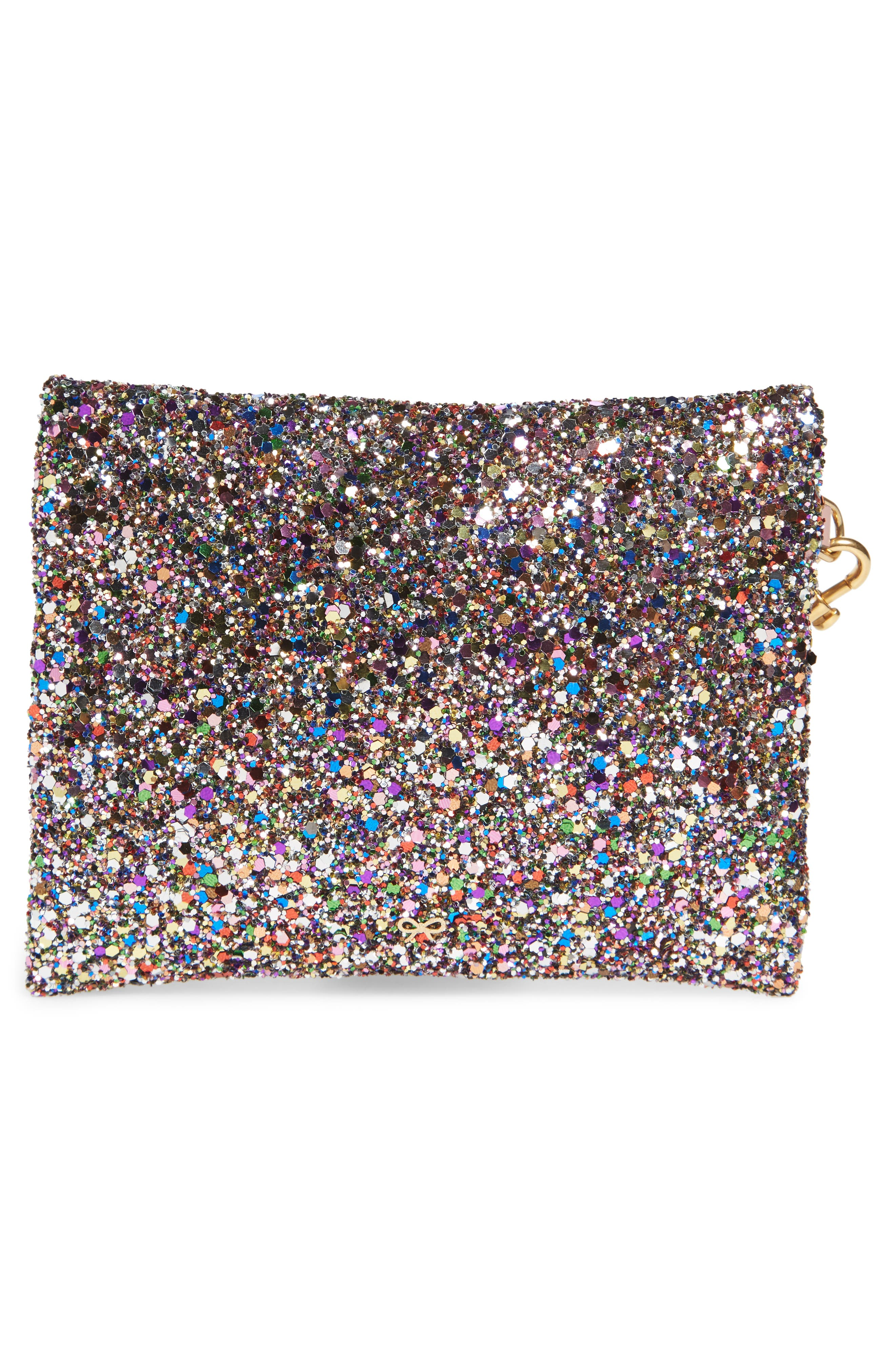 Small Circulus Eyes Zip Pouch,                             Alternate thumbnail 3, color,                             Multi
