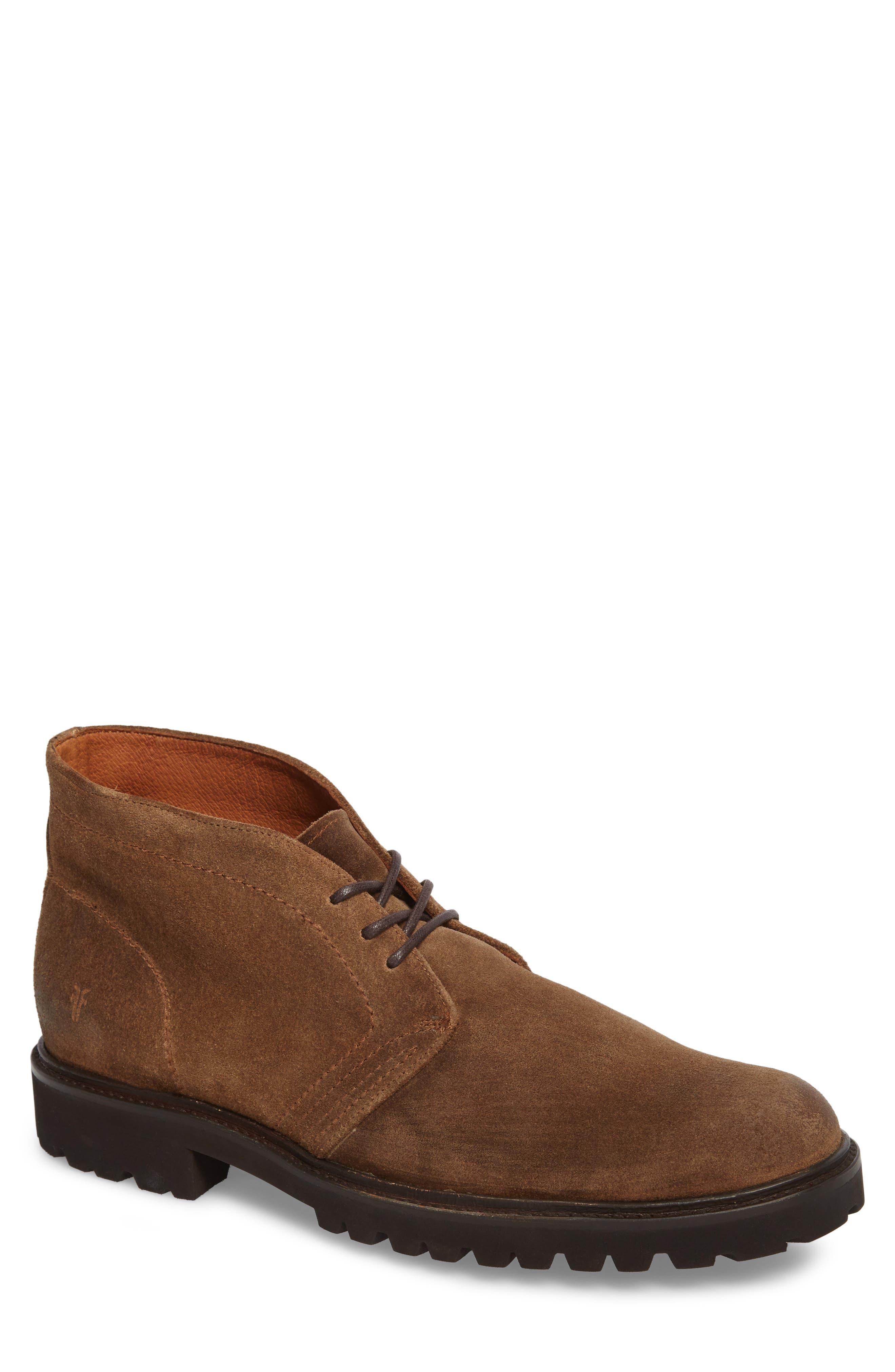 Edwin Waterproof Chukka Boot,                         Main,                         color, Fawn Leather