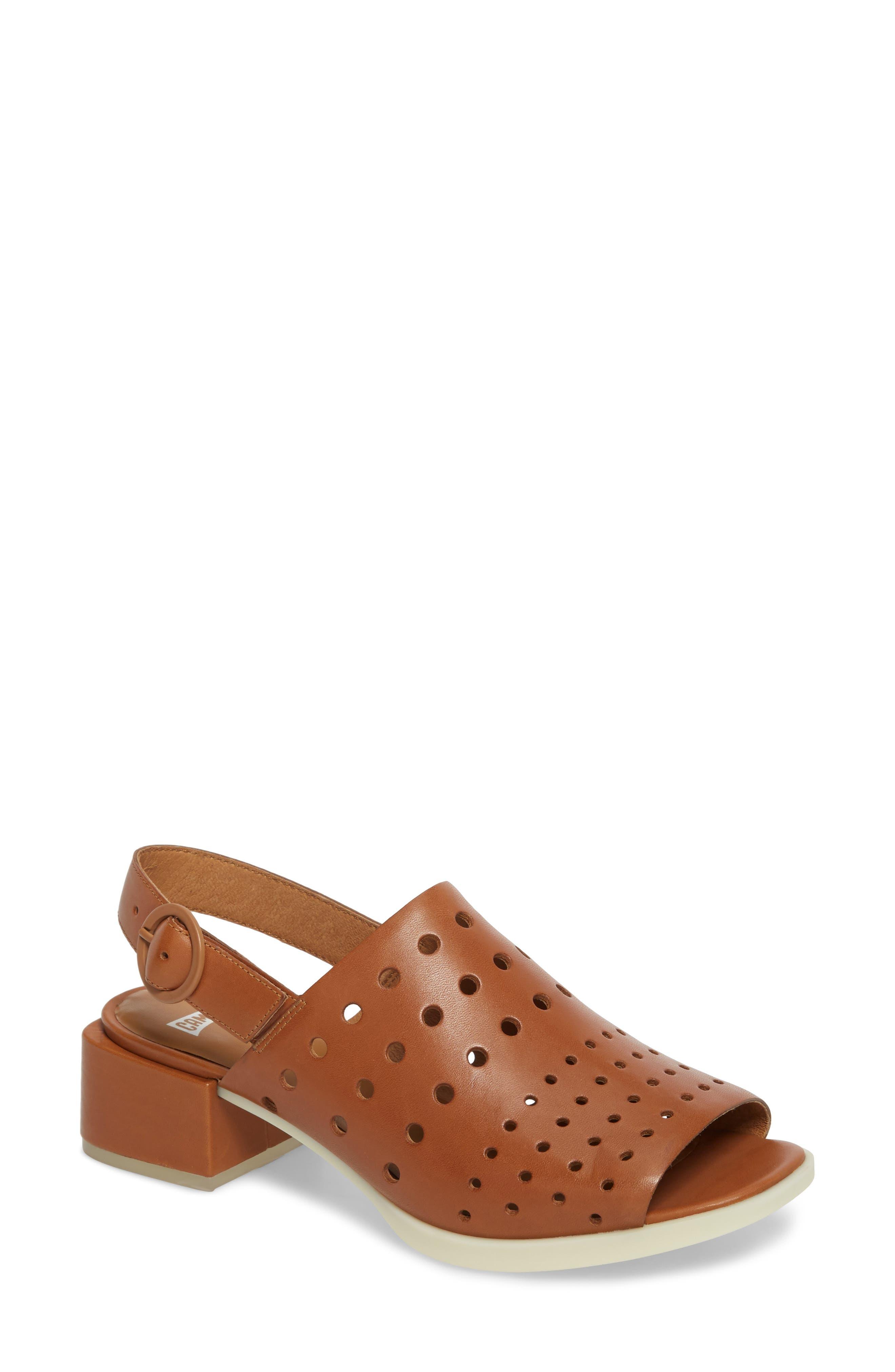 Twins Sandal,                         Main,                         color, Rust/ Copper Leather