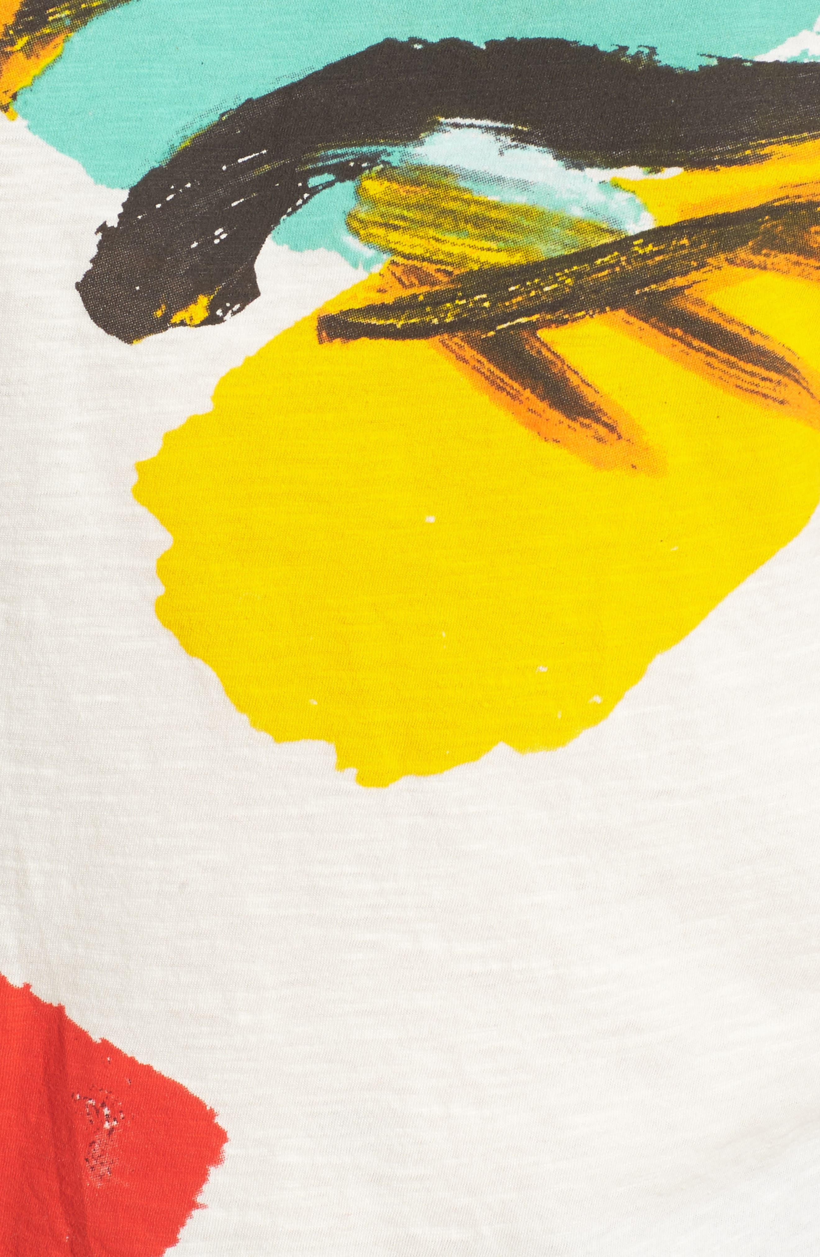x Donald Robertson Face Tee,                             Alternate thumbnail 5, color,                             Ivory