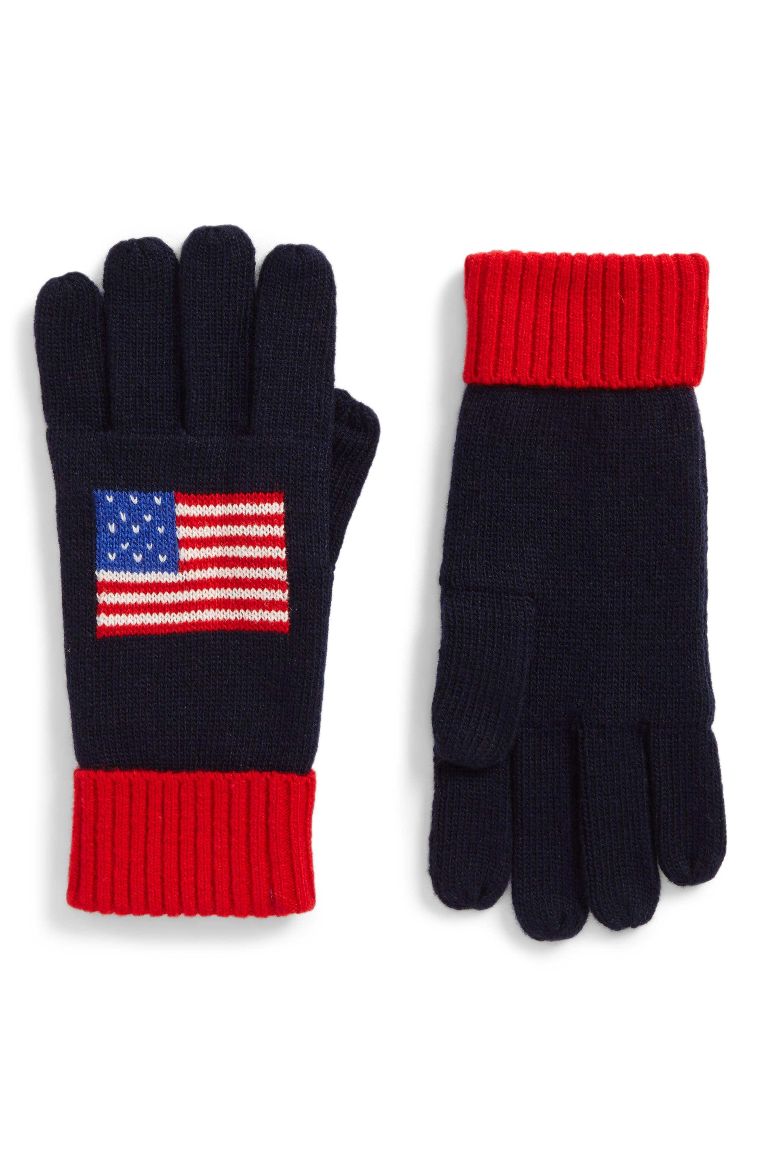 Flag Gloves,                         Main,                         color, Navy