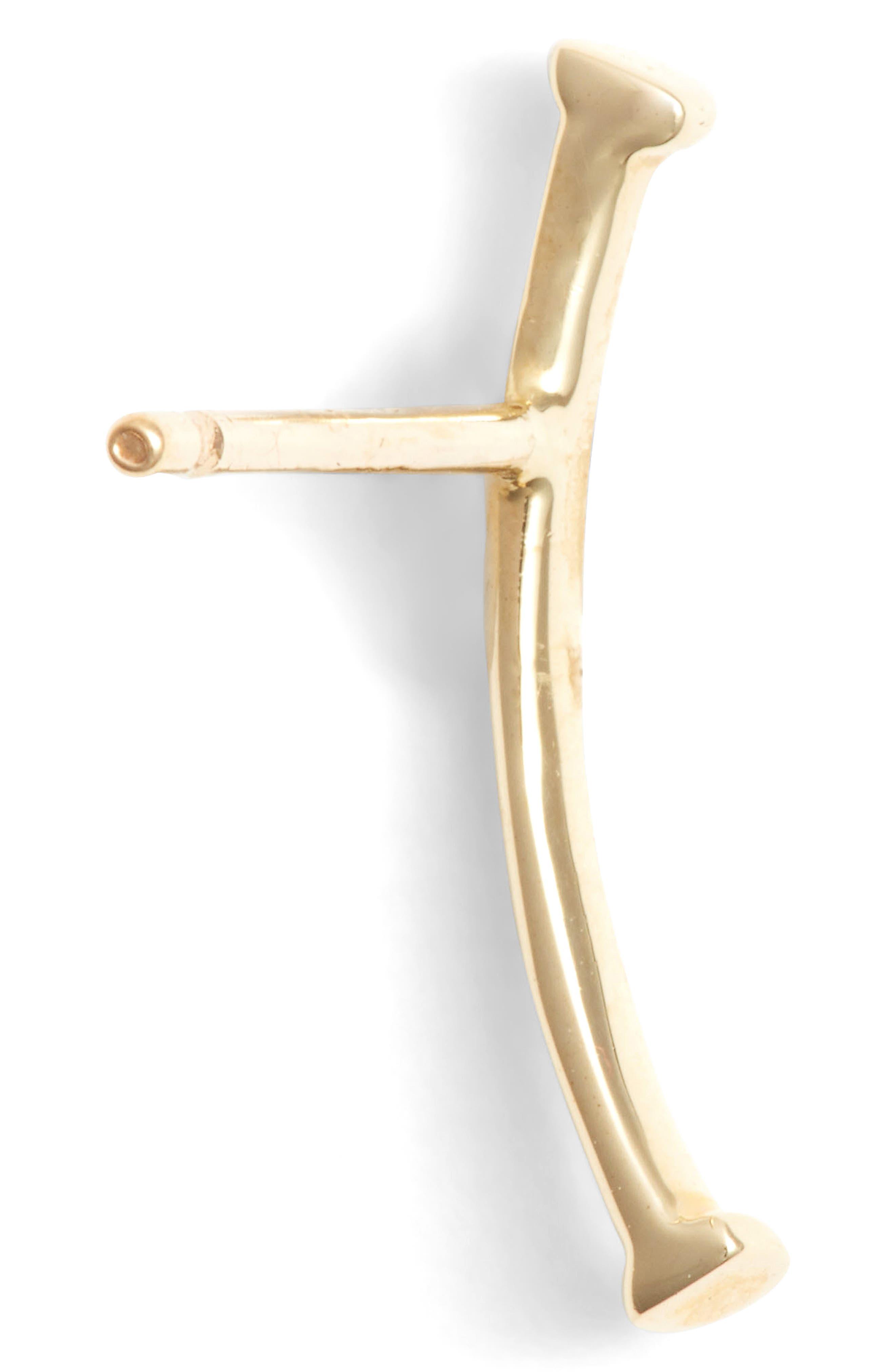 Alternate Image 3  - Bony Levy Skinny Curve Bar Stud Earrings (Nordstrom Exclusive)