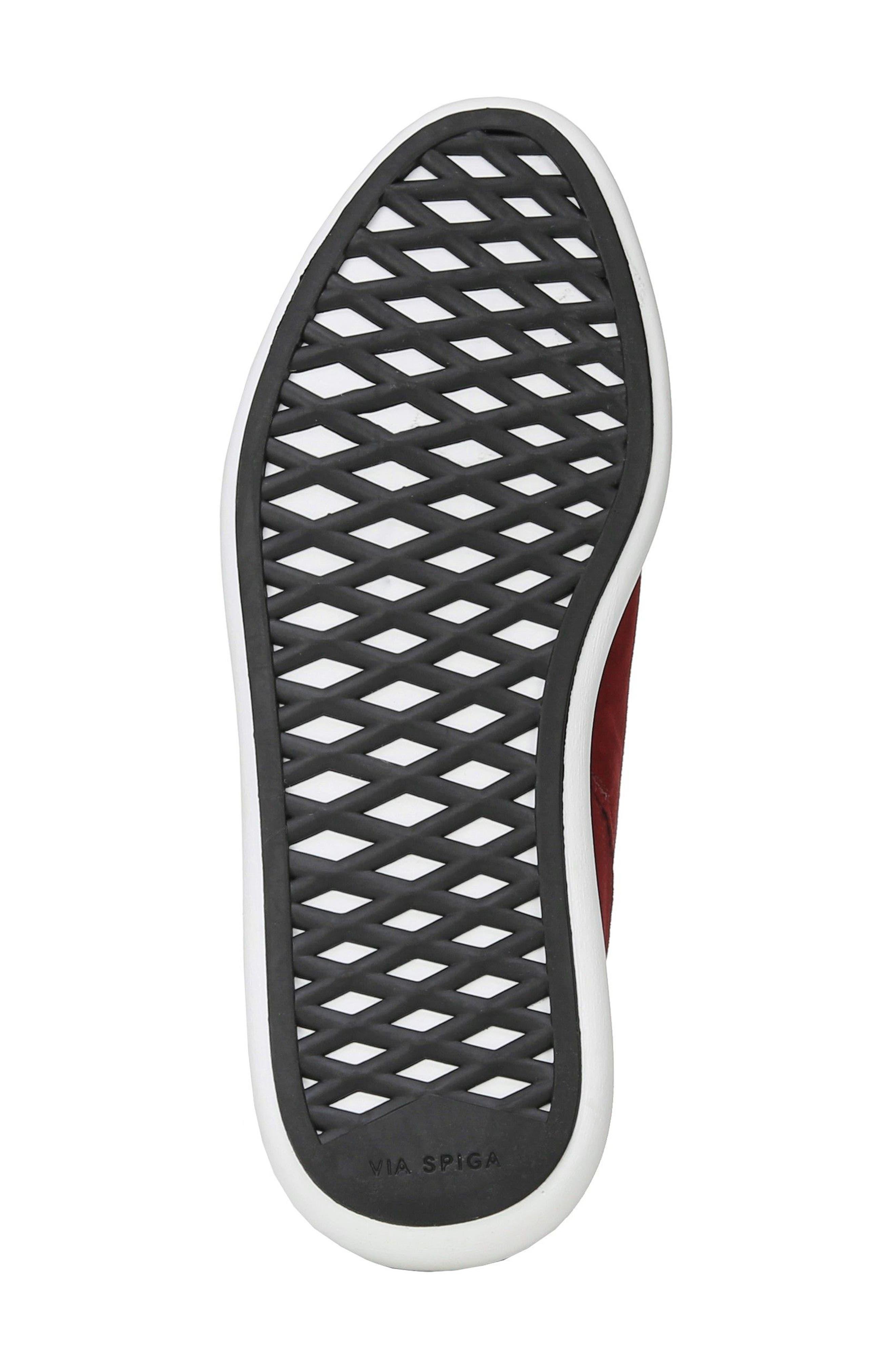 Marlow Slip-On Sneaker,                             Alternate thumbnail 6, color,                             Ruby Suede