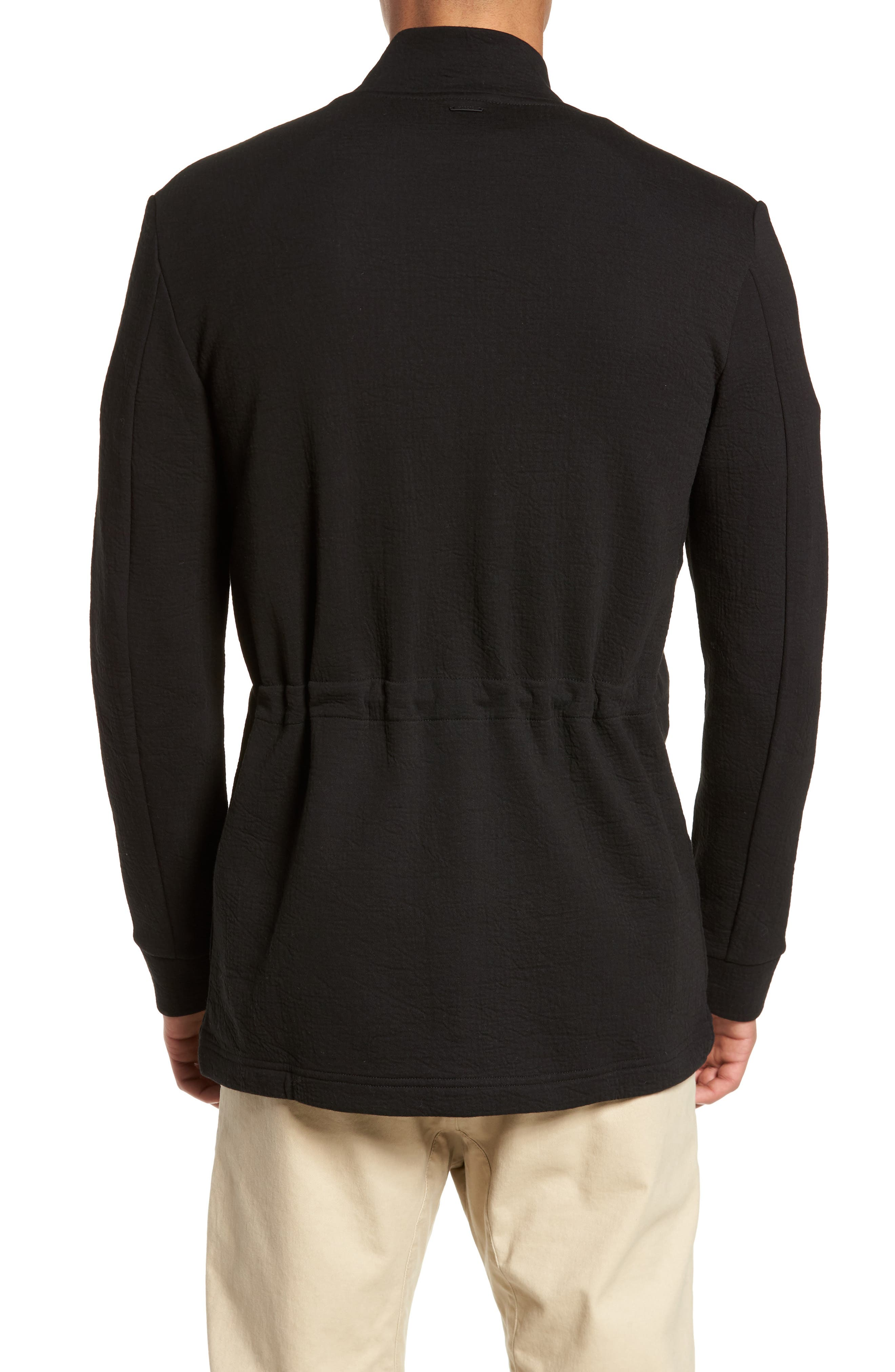 Zip Fleece Track Jacket,                             Alternate thumbnail 2, color,                             Black