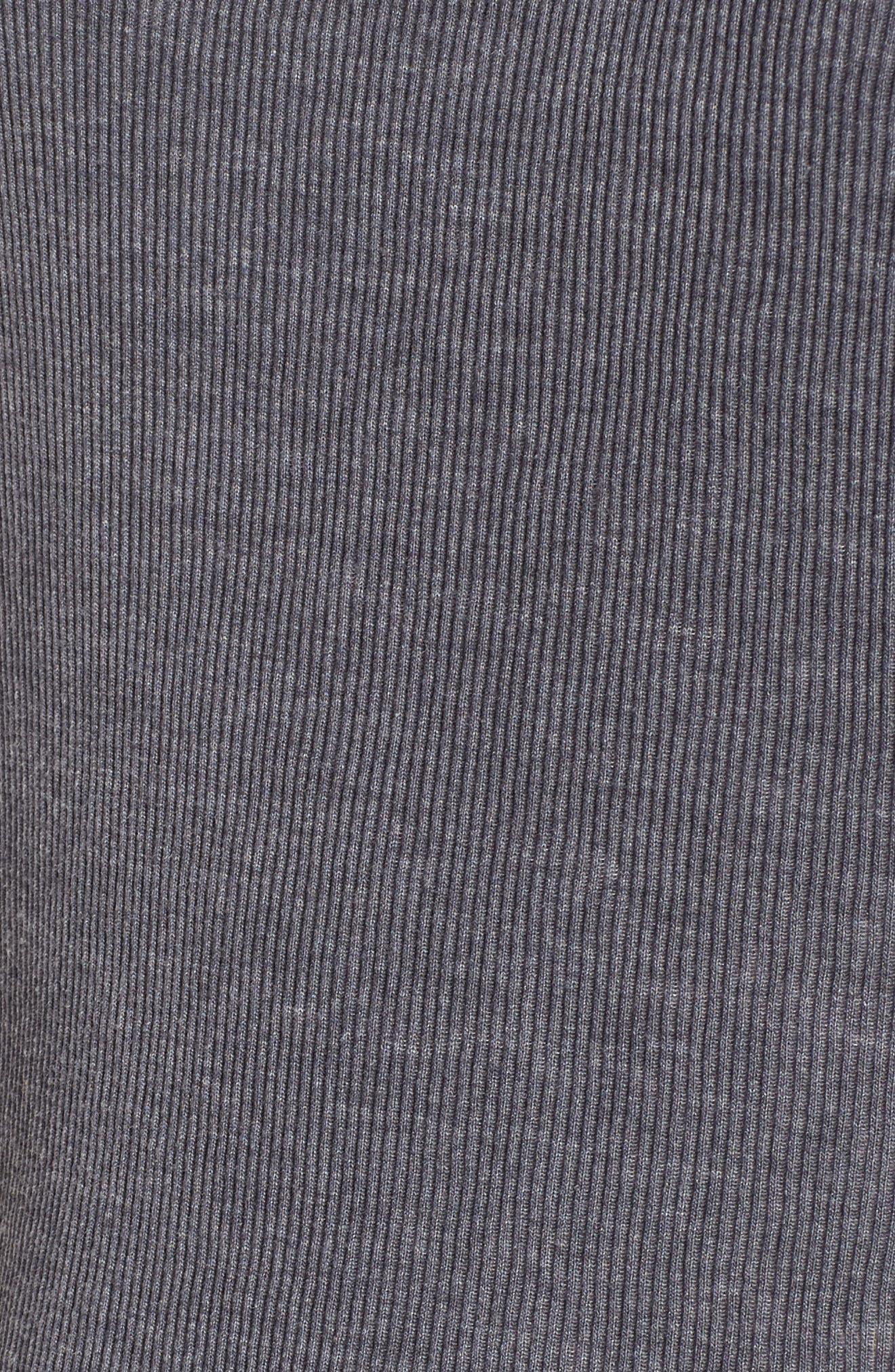 Mixed Knit Tank,                             Alternate thumbnail 5, color,                             Grey Cloudburst