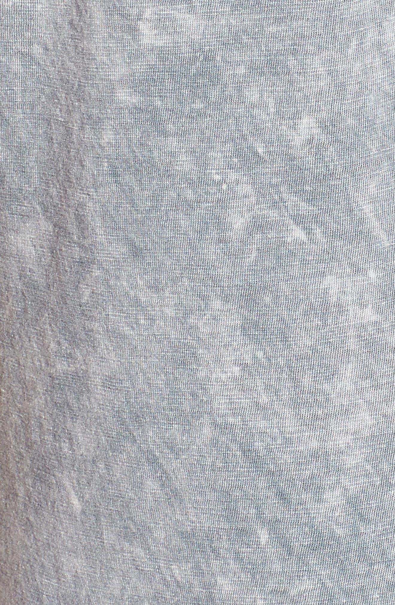 Mineral Wash Ruffle Hem Tee,                             Alternate thumbnail 5, color,                             Grey
