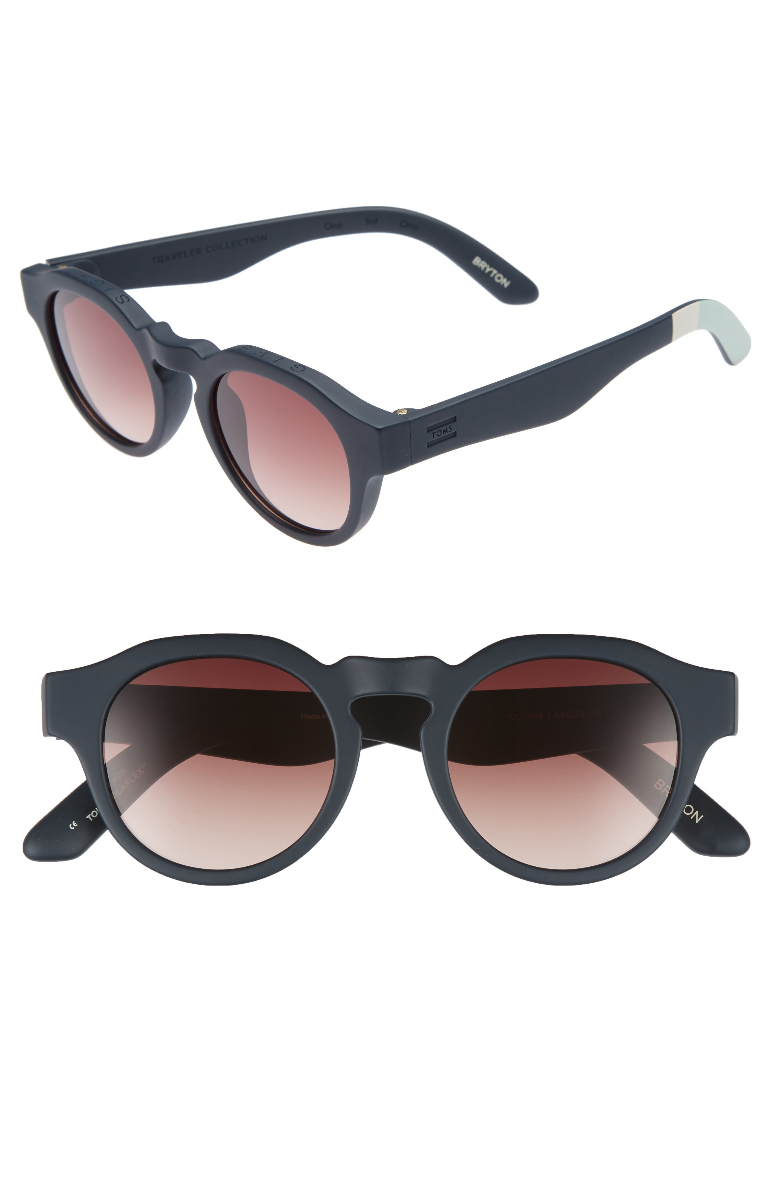 Bryton 48mm Sunglasses,                             Main thumbnail 1, color,                             Blueberry