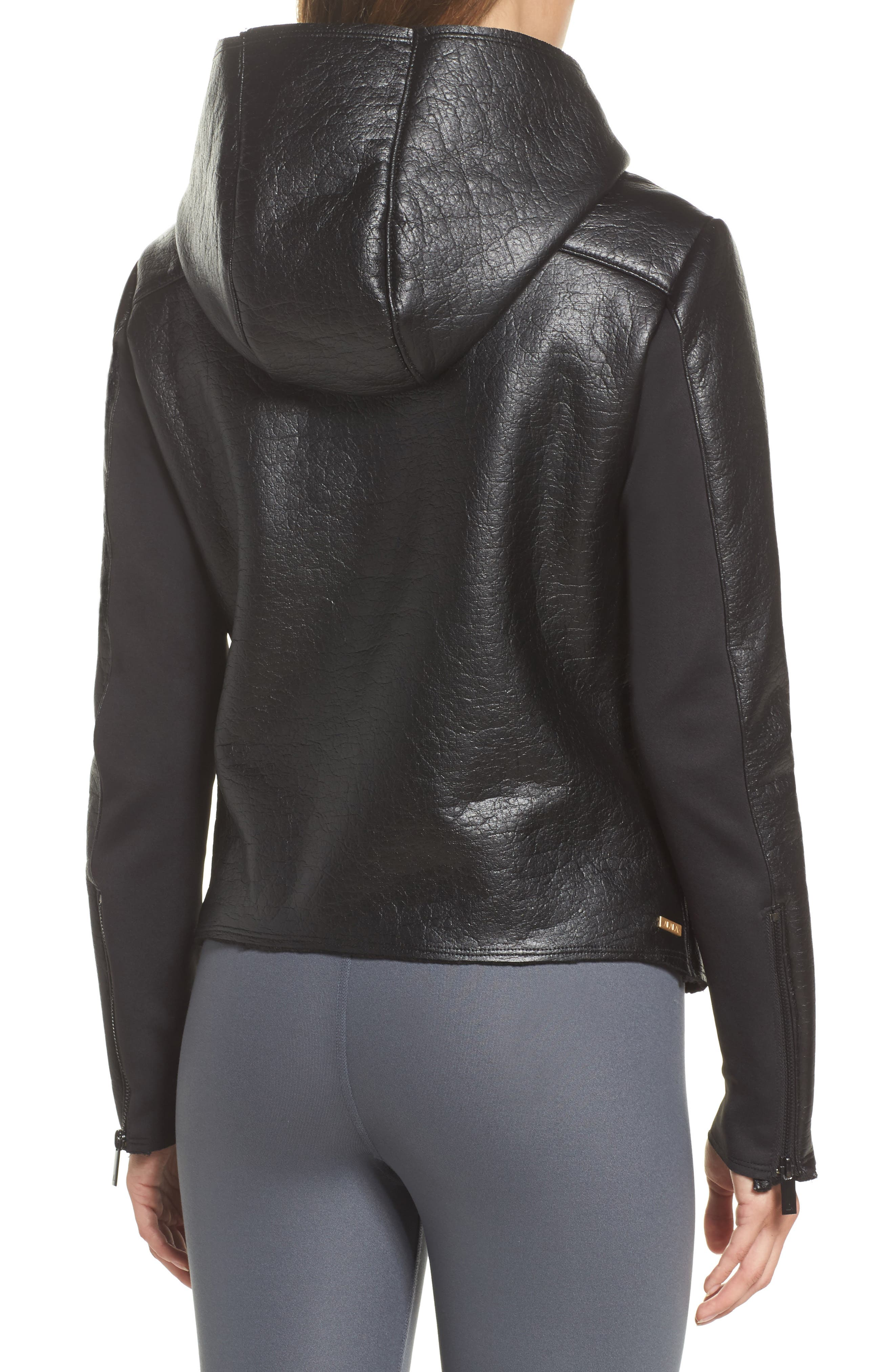 Alternate Image 2  - ALALA Fleece Lined Faux Leather Jacket