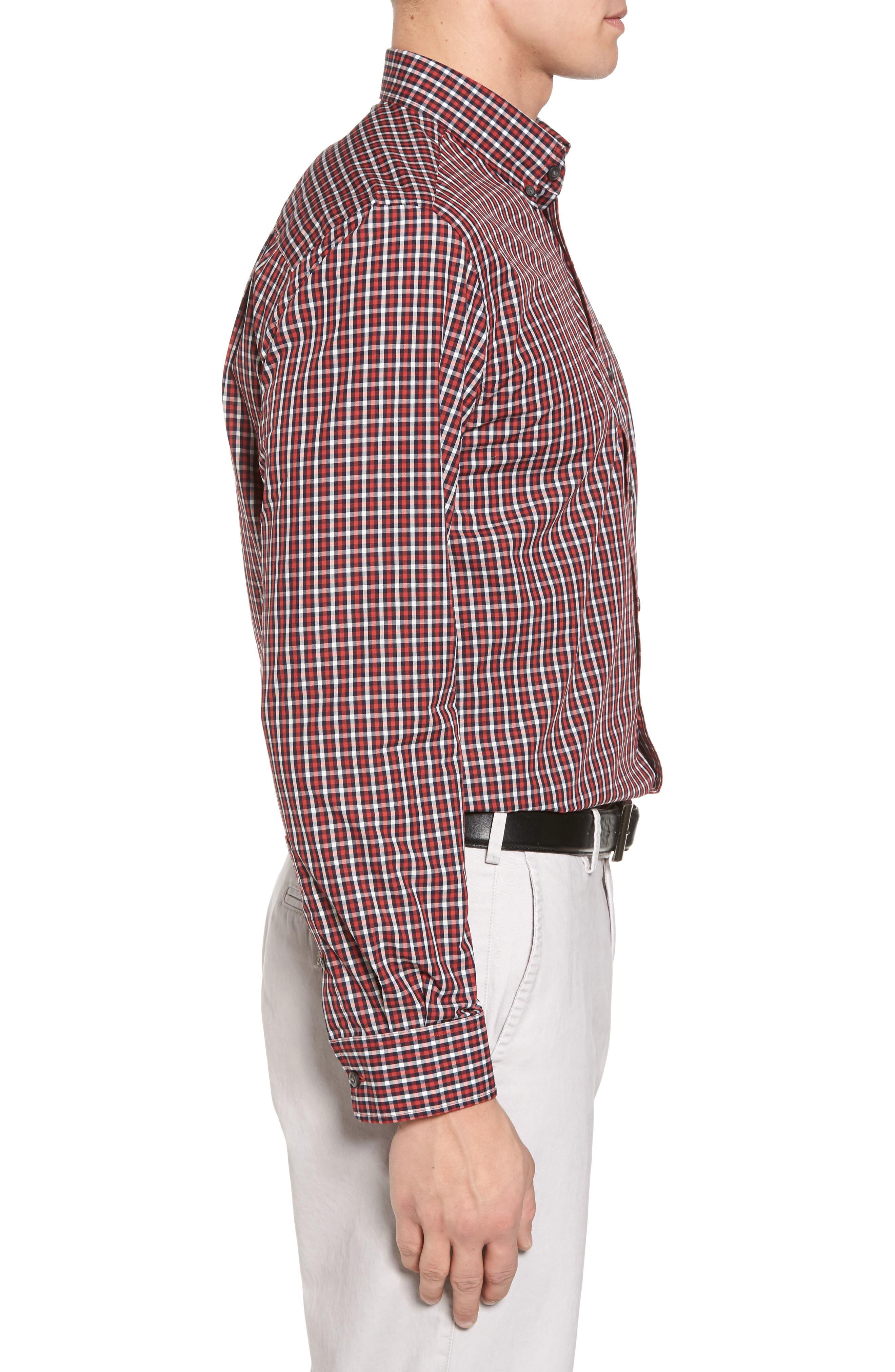 Alternate Image 3  - Cutter & Buck Barrett Check Easy Care Sport Shirt