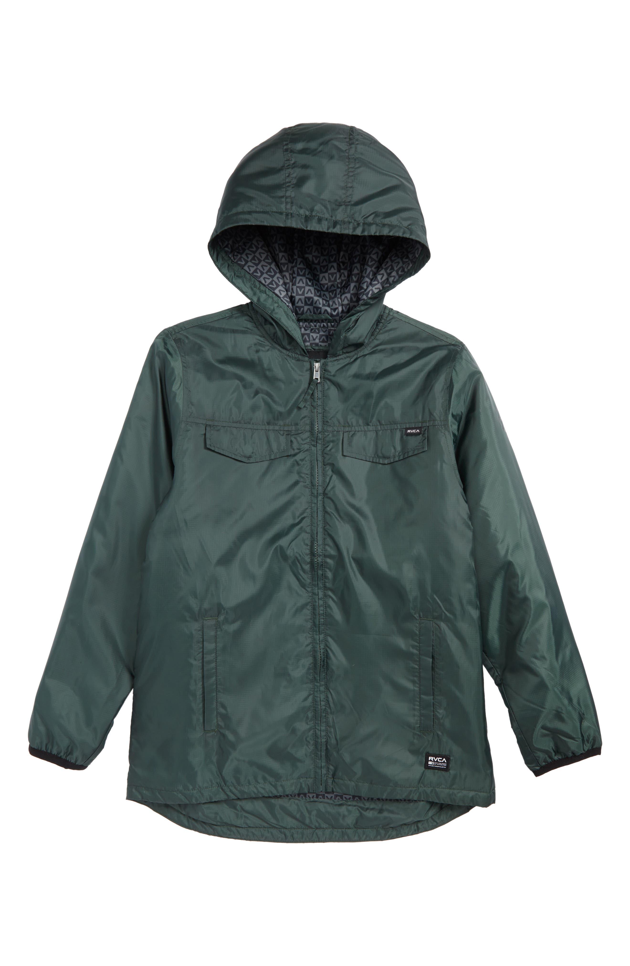 Main Image - RVCA Tracer Hooded Jacket (Big Boys)