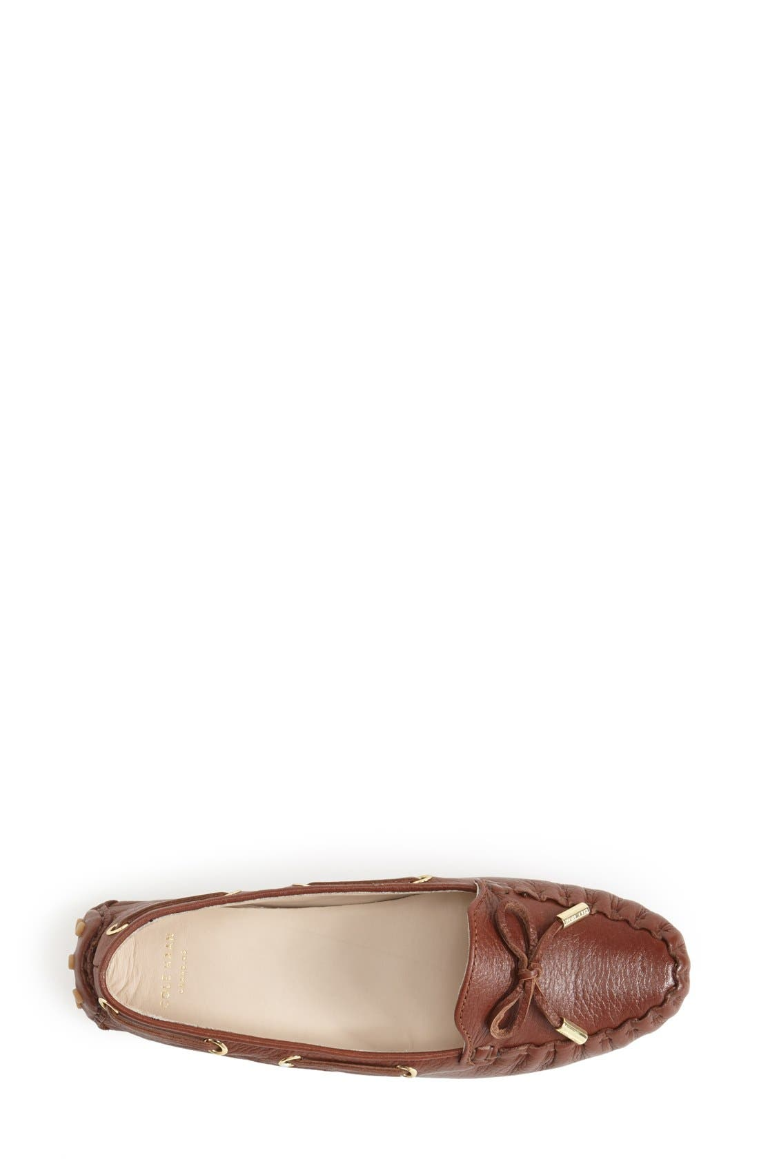 'Cary' Leather Driving Flat,                             Alternate thumbnail 3, color,                             Woodbury