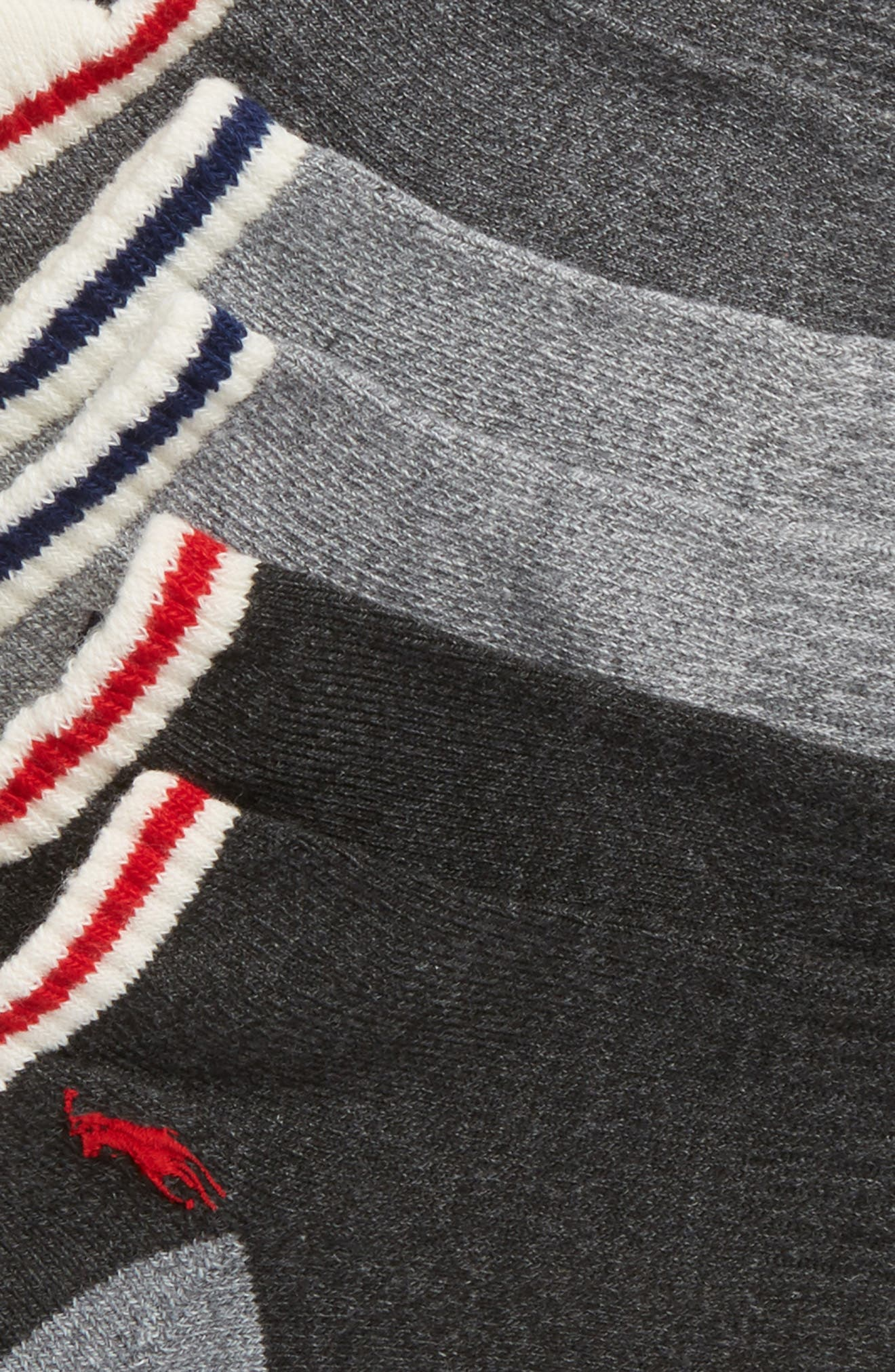 3-Pack Low Cut Socks,                             Alternate thumbnail 2, color,                             Grey Heather/ Assorted