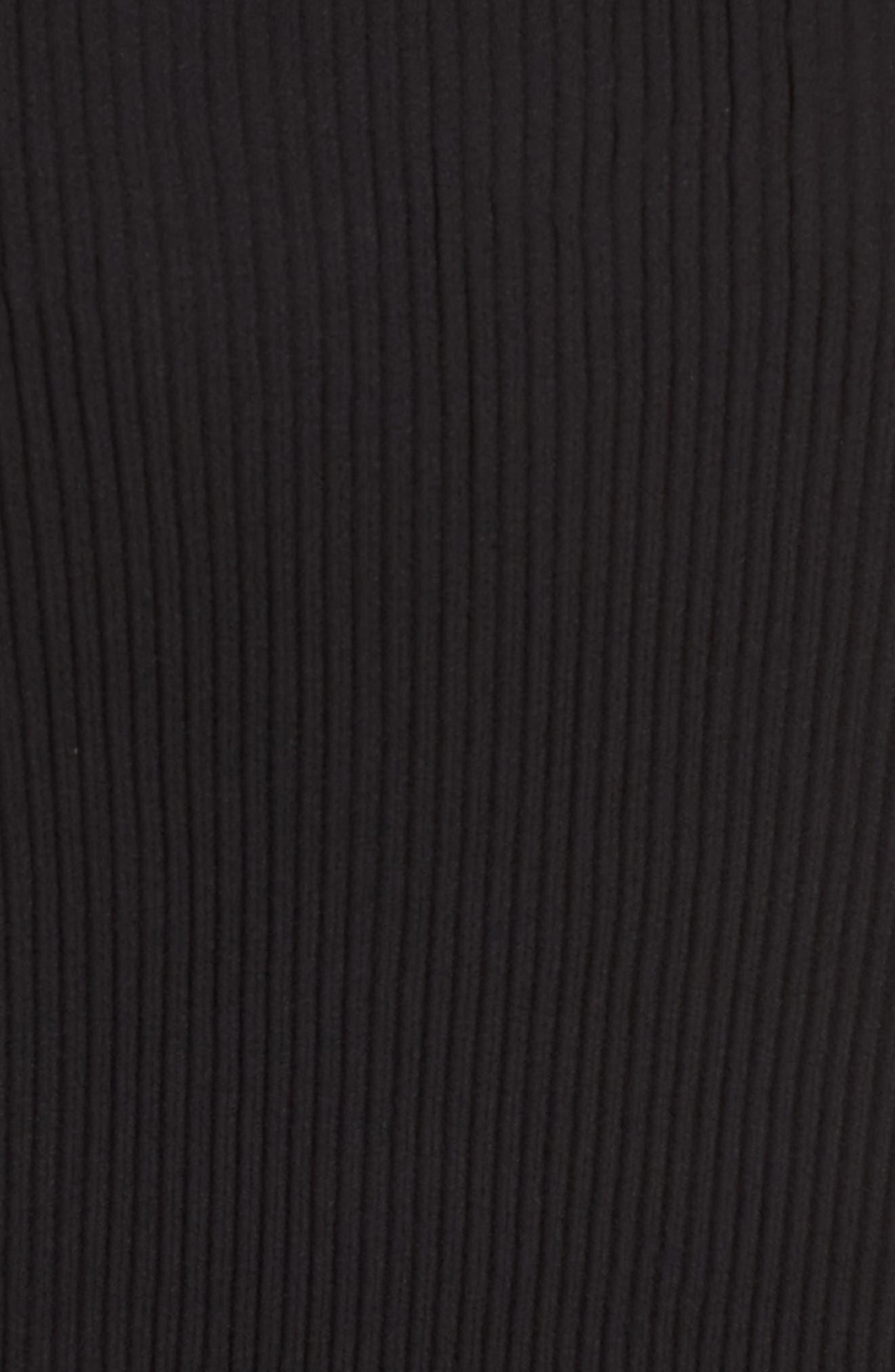 Pleated Halter Top,                             Alternate thumbnail 5, color,                             Black