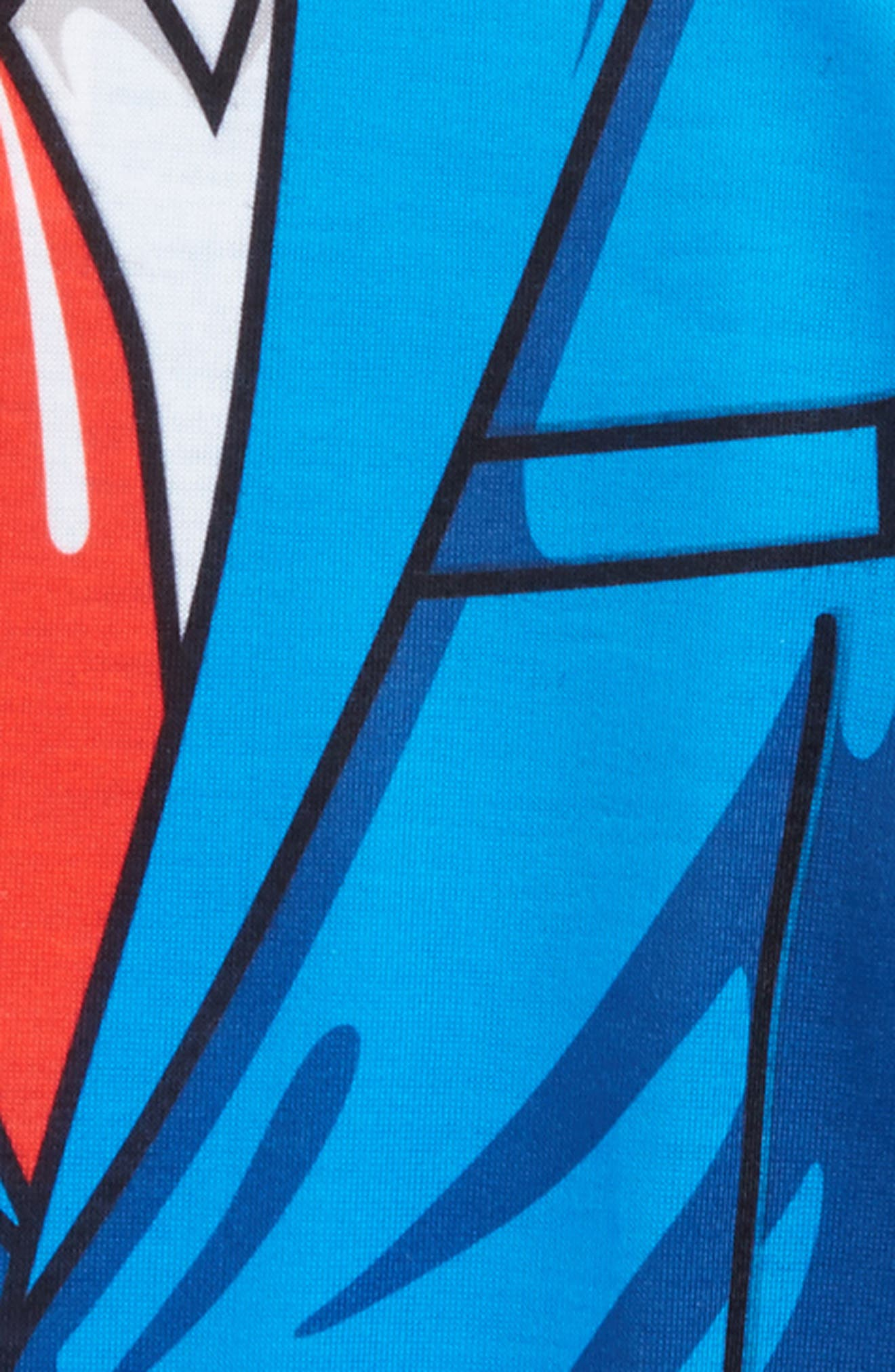 Cartoon Suit Screenprint T-Shirt,                             Alternate thumbnail 3, color,                             Blue