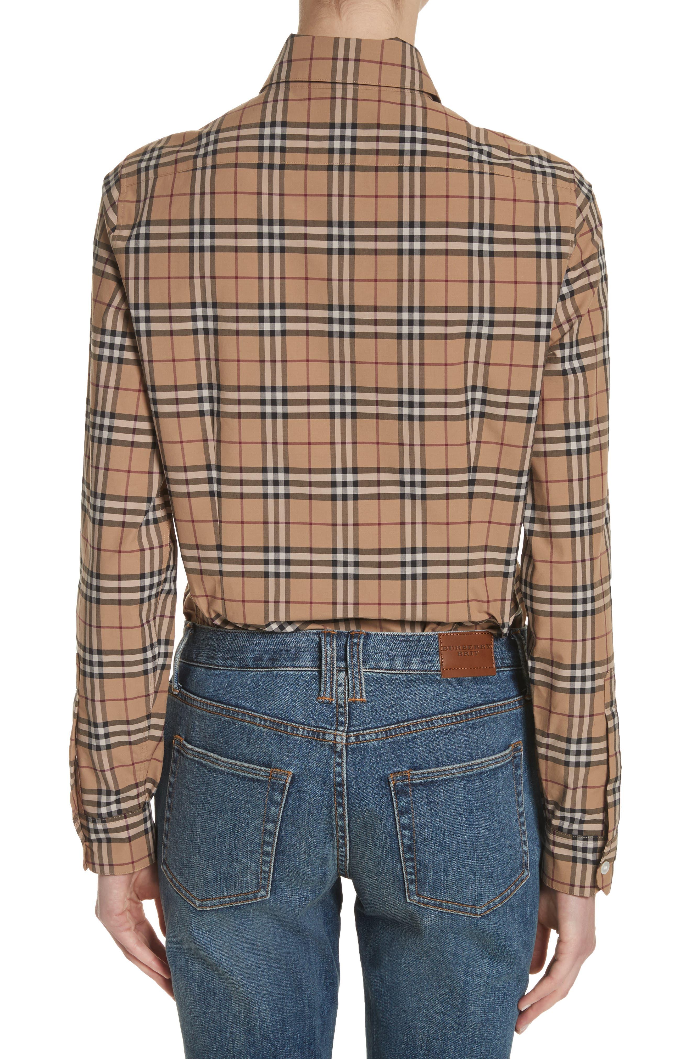 Alternate Image 2  - Burberry Vintage Check Cotton Shirt