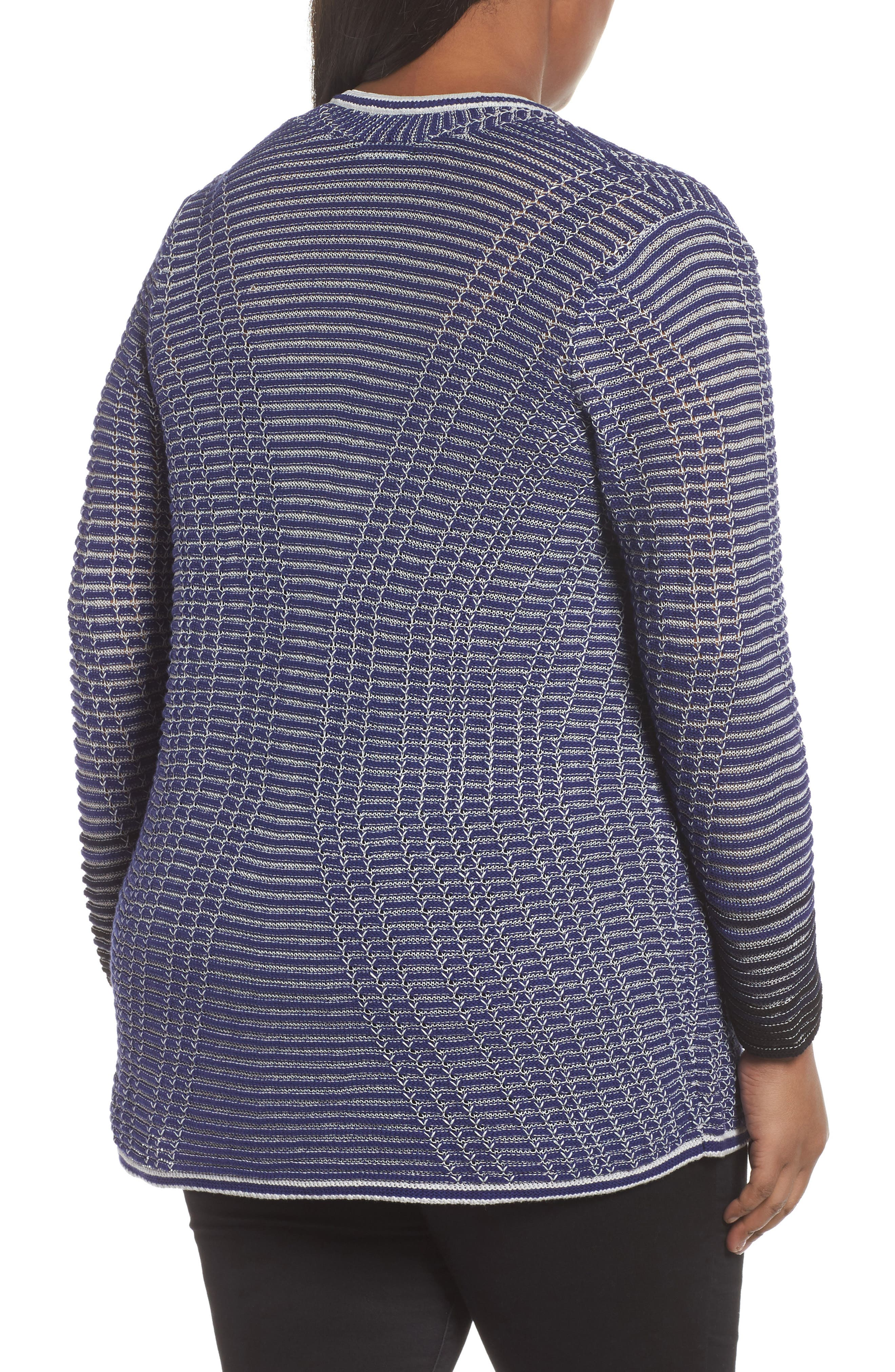 Striped Space Cardigan,                             Alternate thumbnail 2, color,                             Electric Blue