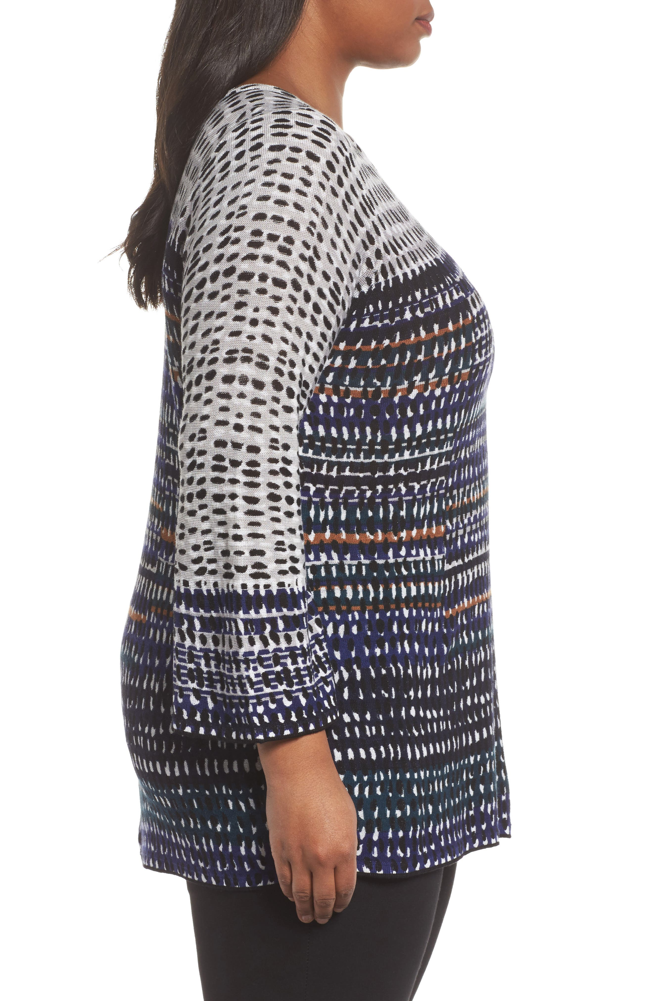 New Light Knit Tunic Top,                             Alternate thumbnail 3, color,                             Multi