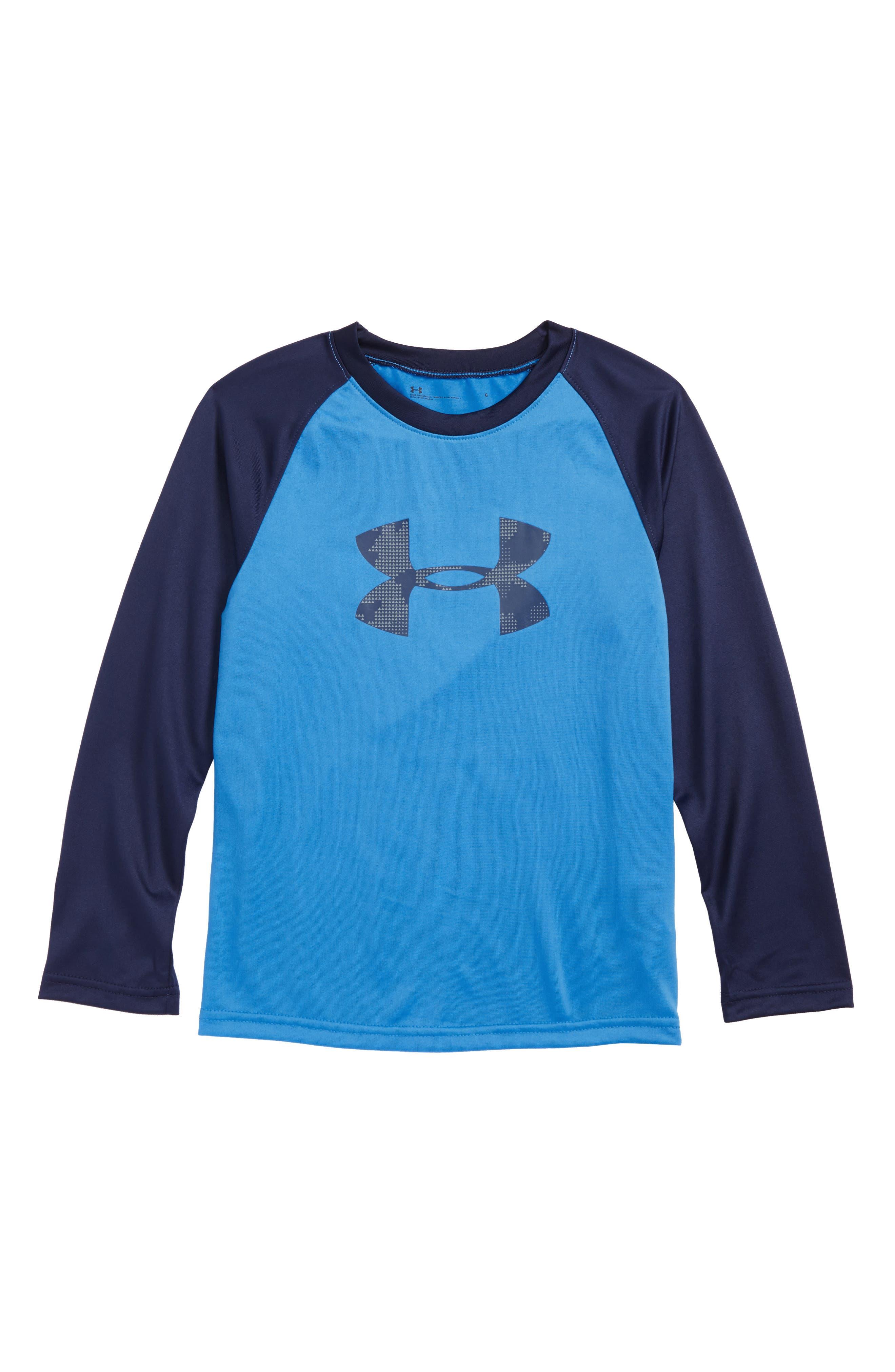 Main Image - Under Armour Camo Big Logo HeatGear® T-Shirt (Toddler Boys & Little Boys)