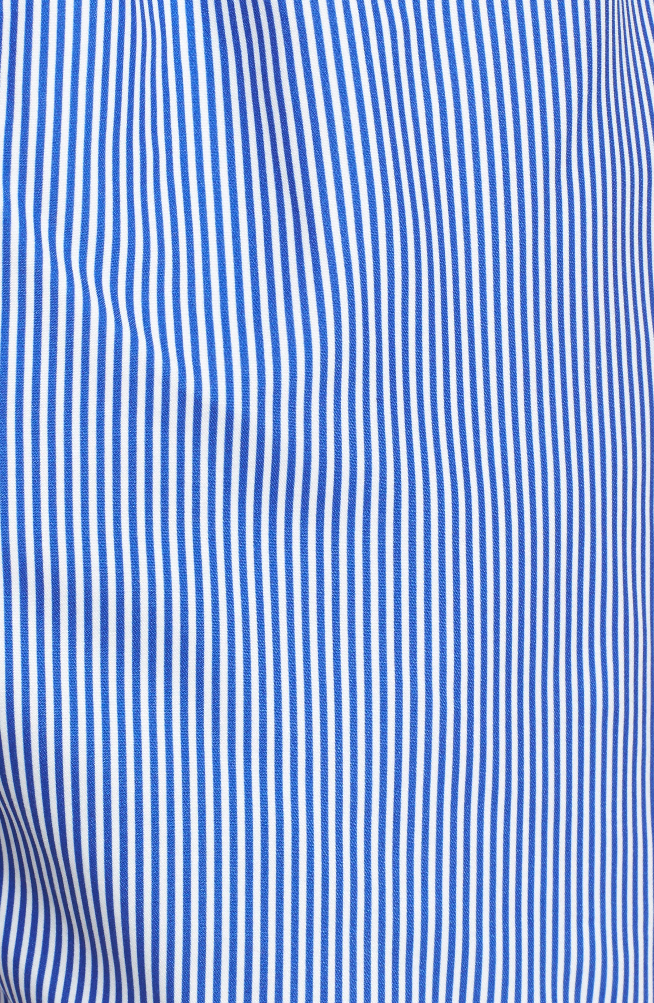 Alternate Image 5  - Ted Baker London One-Way Stripe Swim Trunks