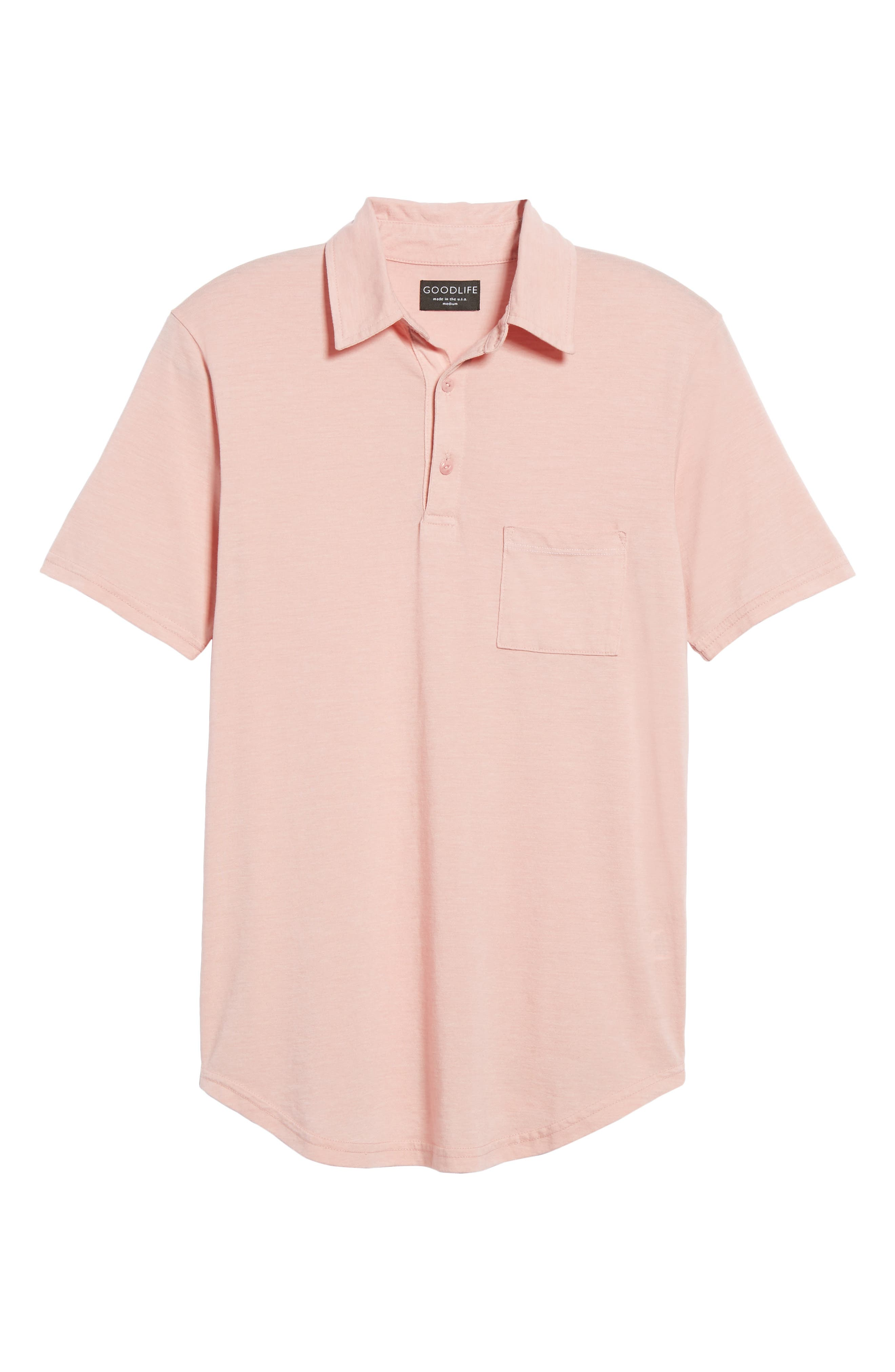 Triblend Scallop Polo,                             Alternate thumbnail 6, color,                             Rose
