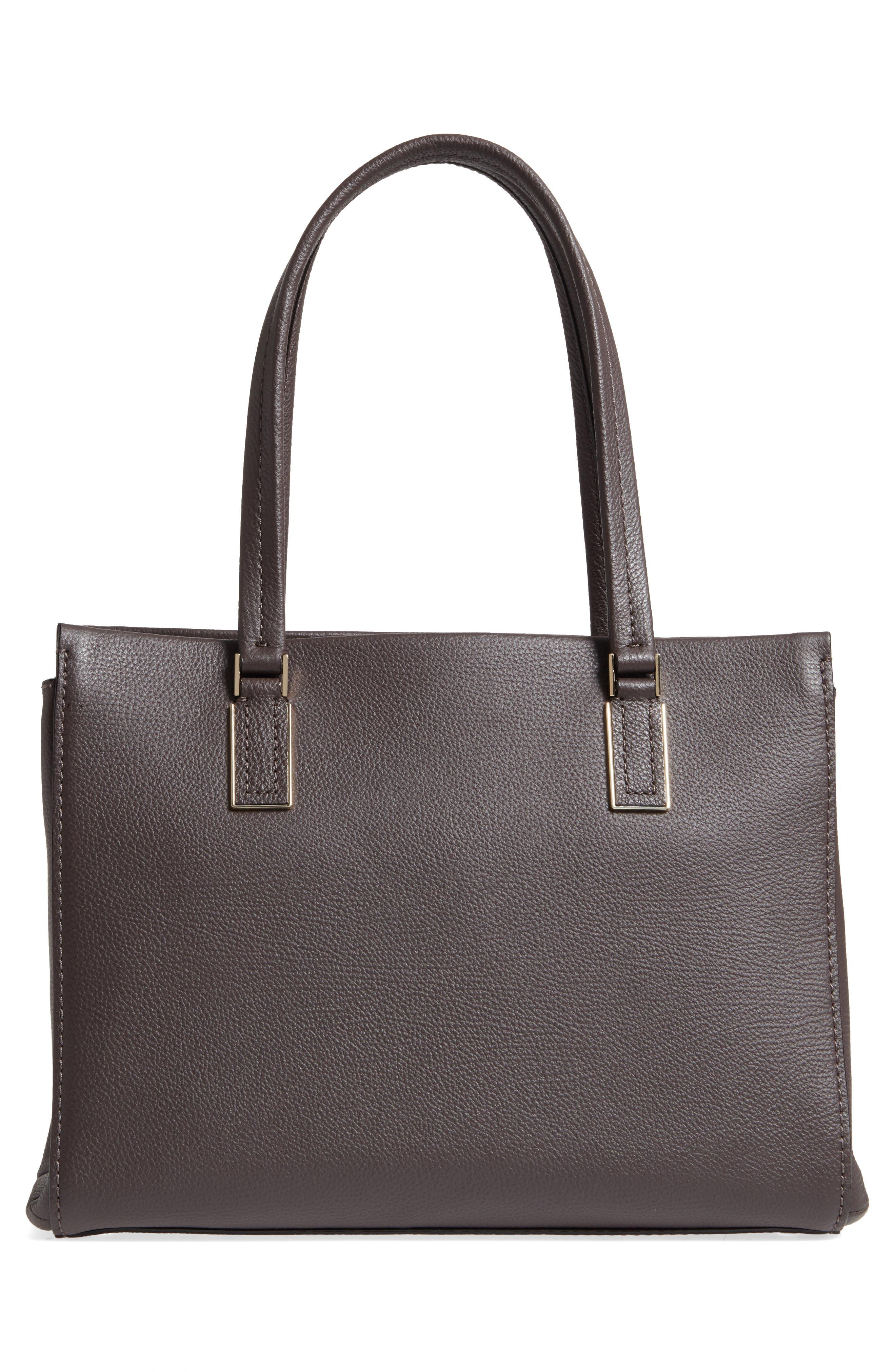 kingston drive - bartlett leather satchel,                             Alternate thumbnail 5, color,                             Morning Black