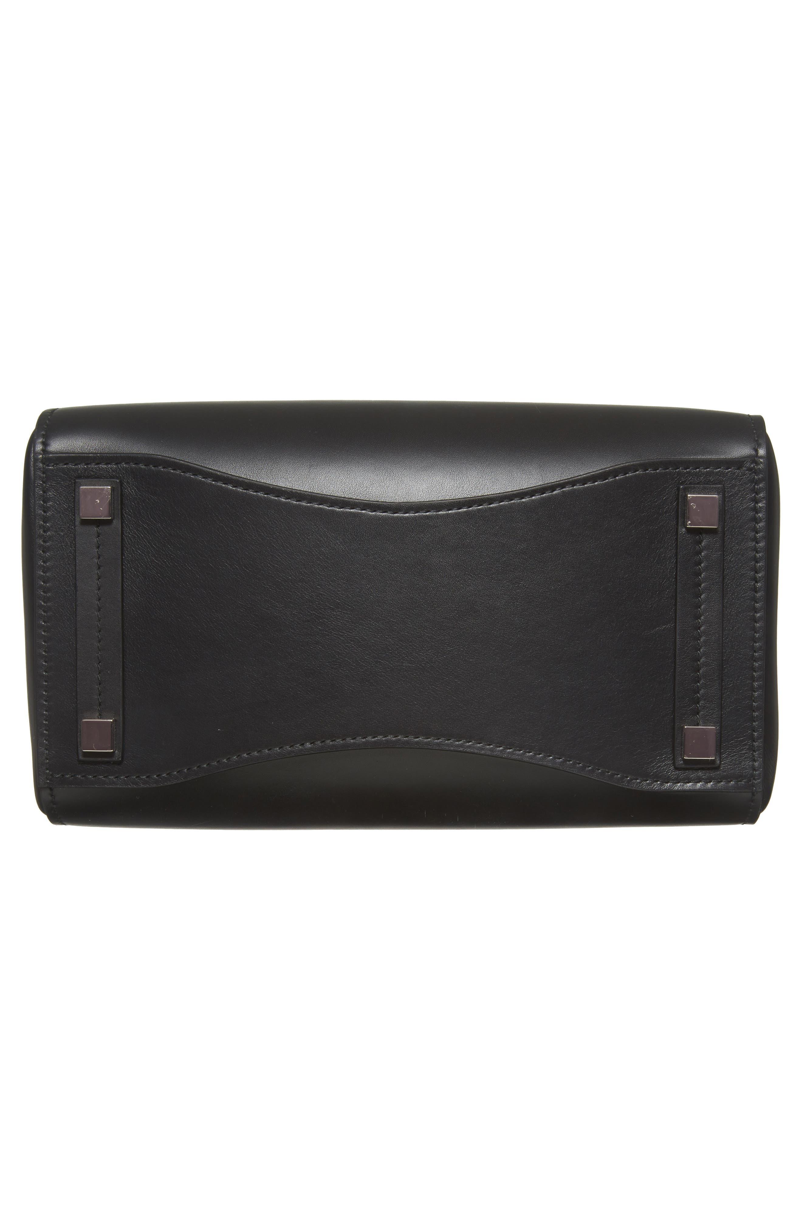 Large Bancroft Leather Top Handle Satchel,                             Alternate thumbnail 6, color,                             Black