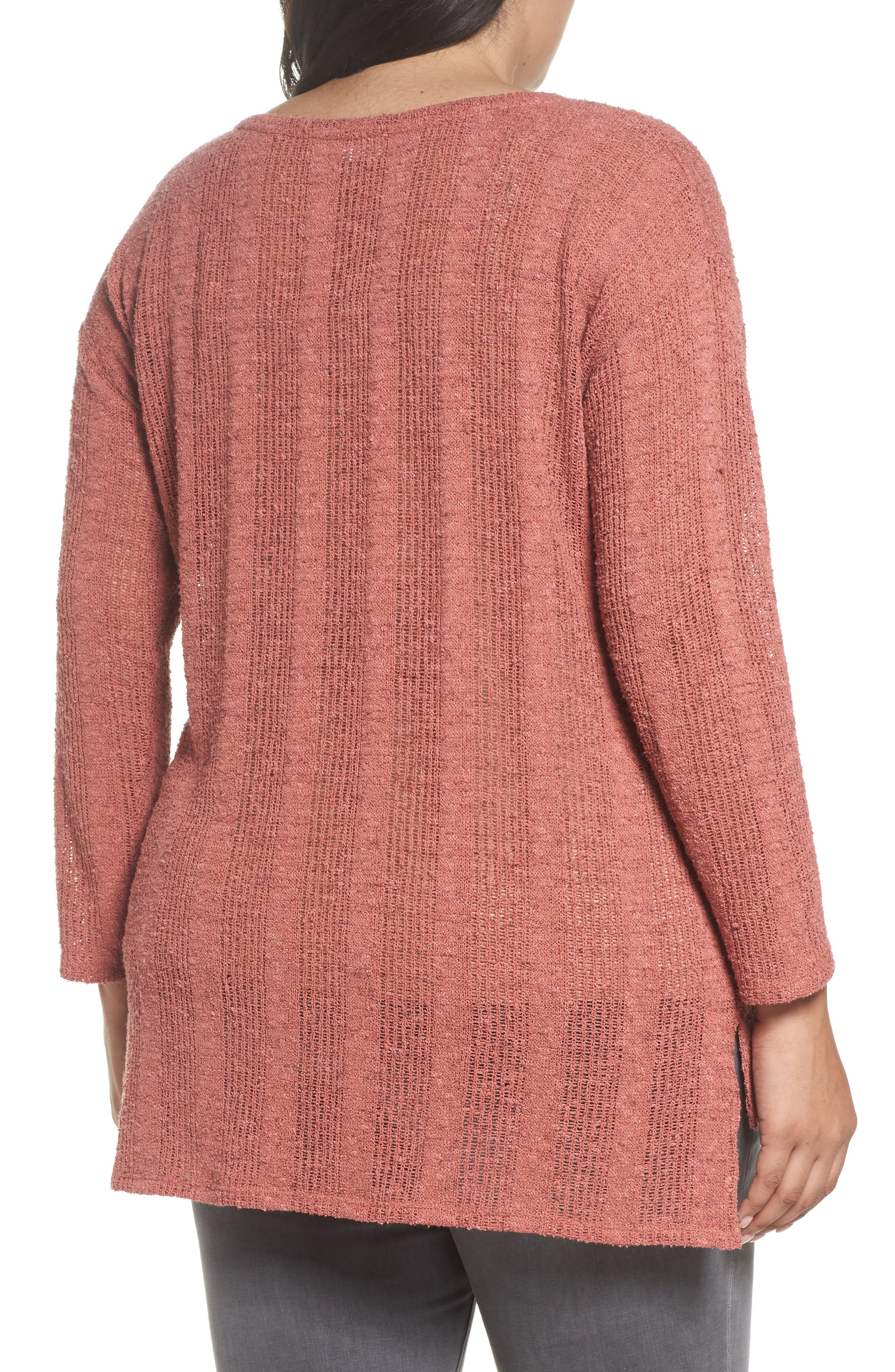 Alternate Image 2  - Two by Vince Camuto Drop Needle Sweater (Plus Size)