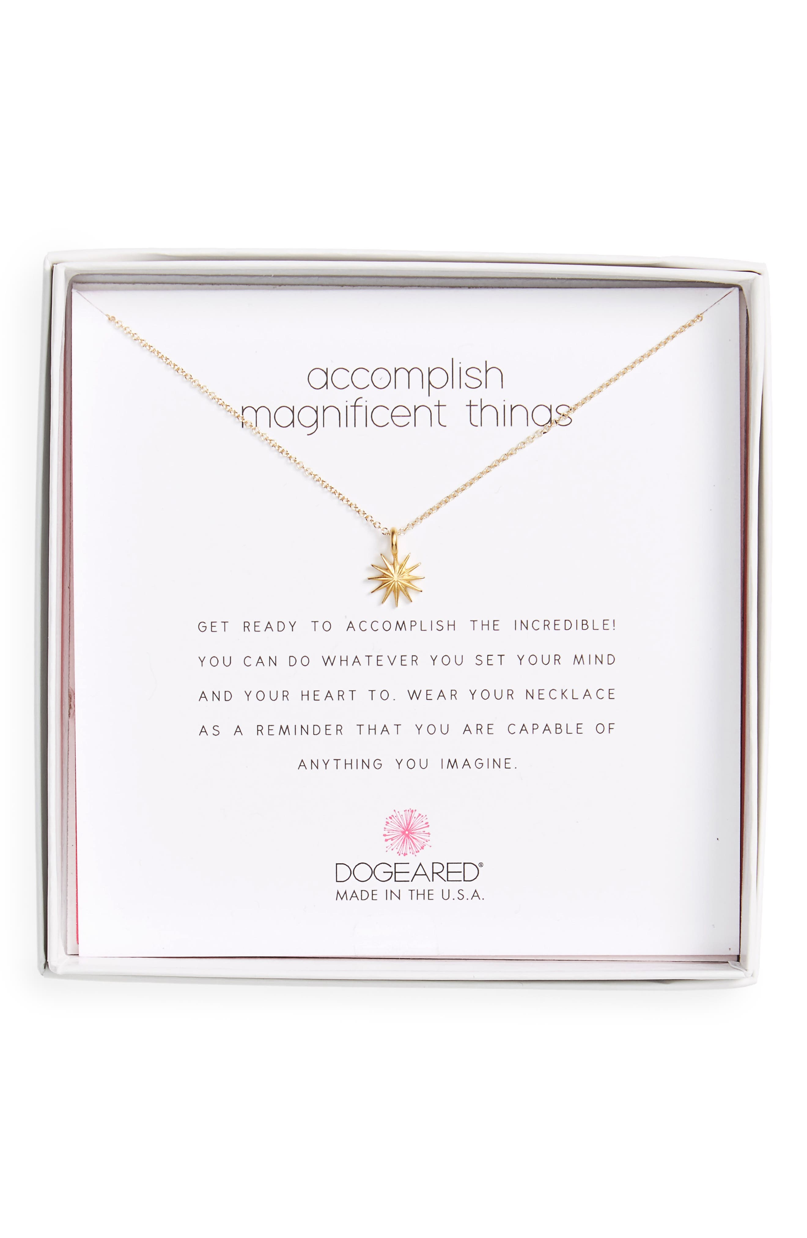 Dogeared Starburst Pendant Necklace
