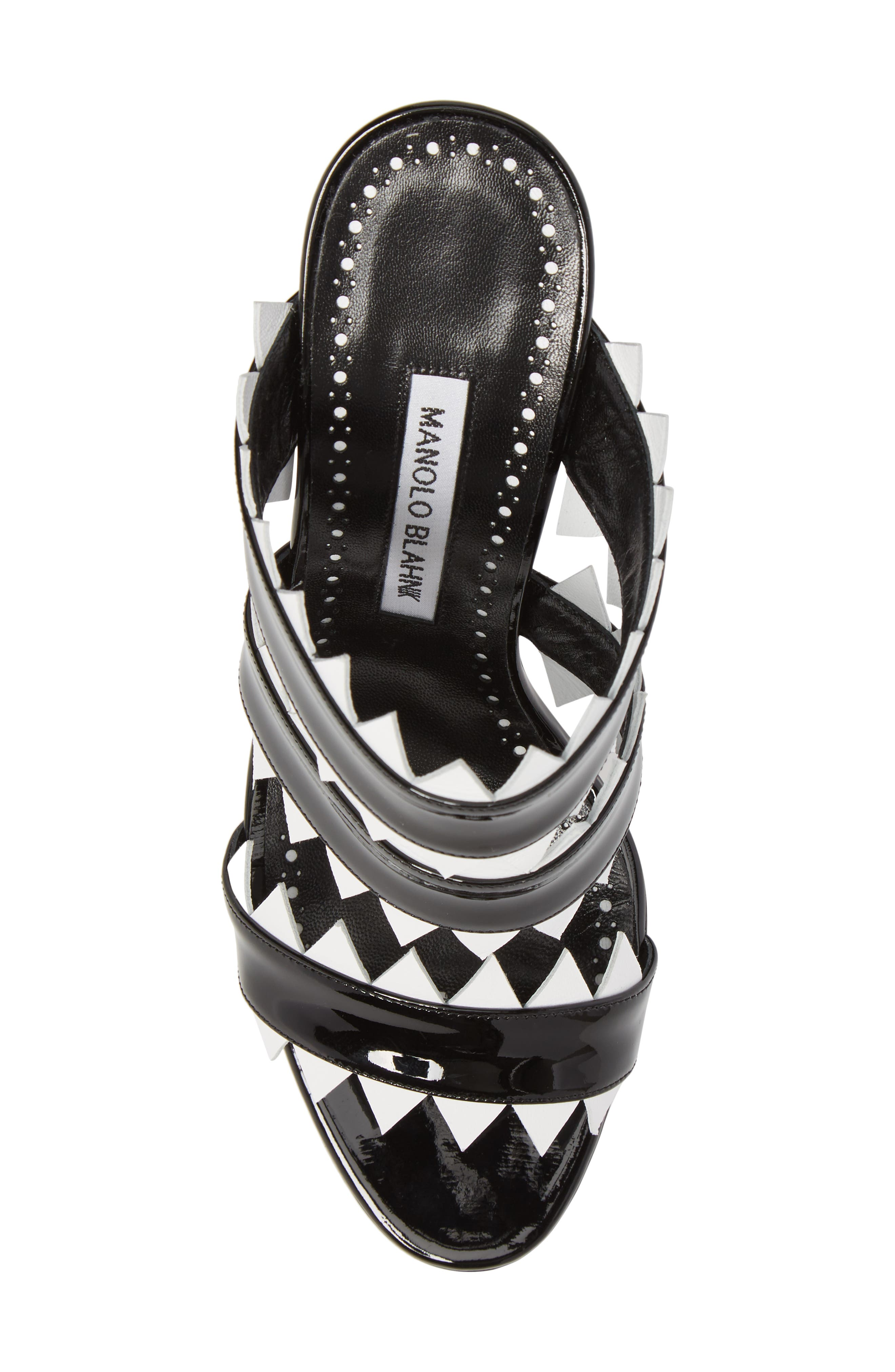 Arpege Mule Sandal,                             Alternate thumbnail 5, color,                             Black/ White