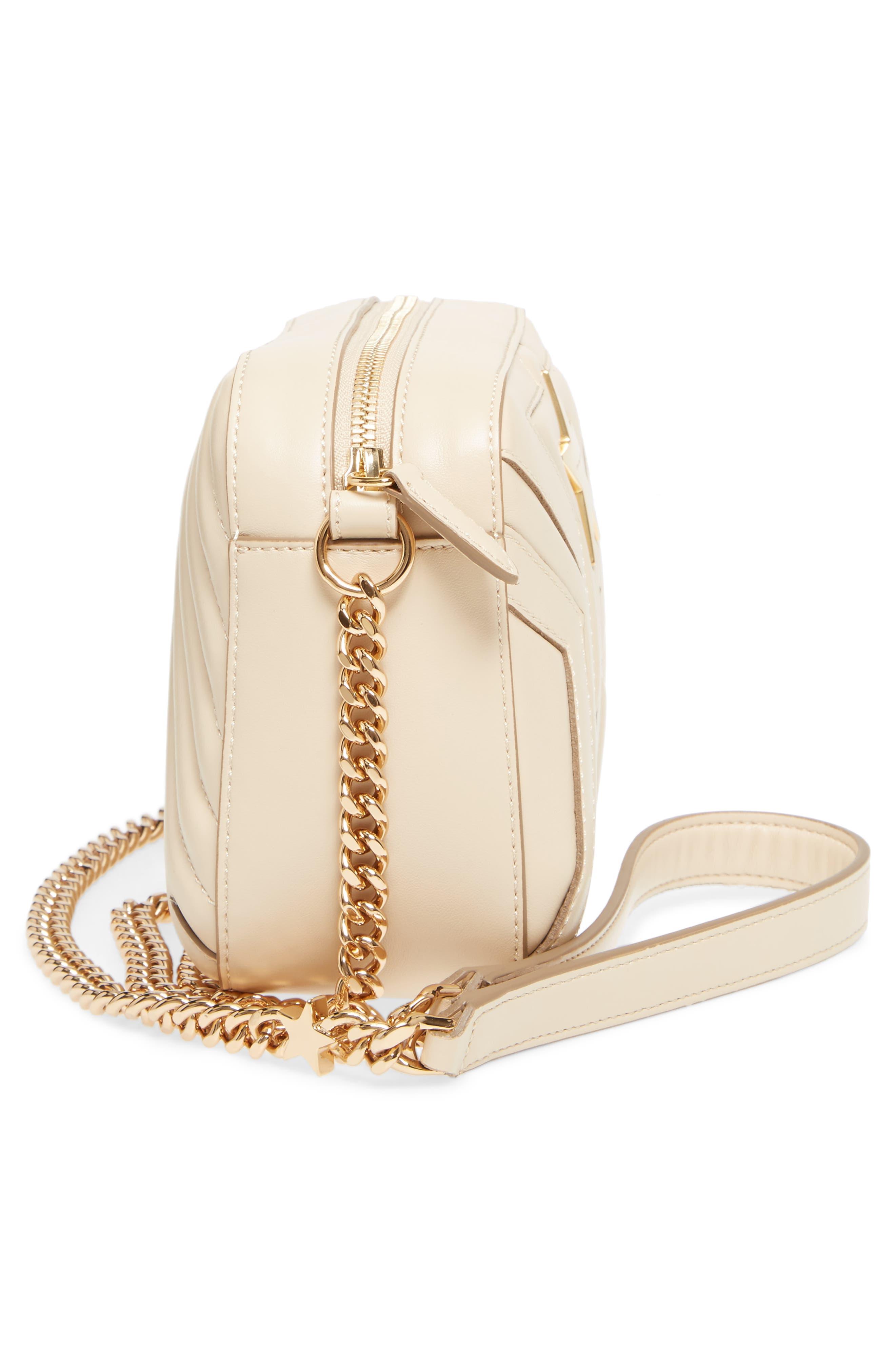 Alter Nappa Faux Leather Shoulder Bag,                             Alternate thumbnail 4, color,                             Cream