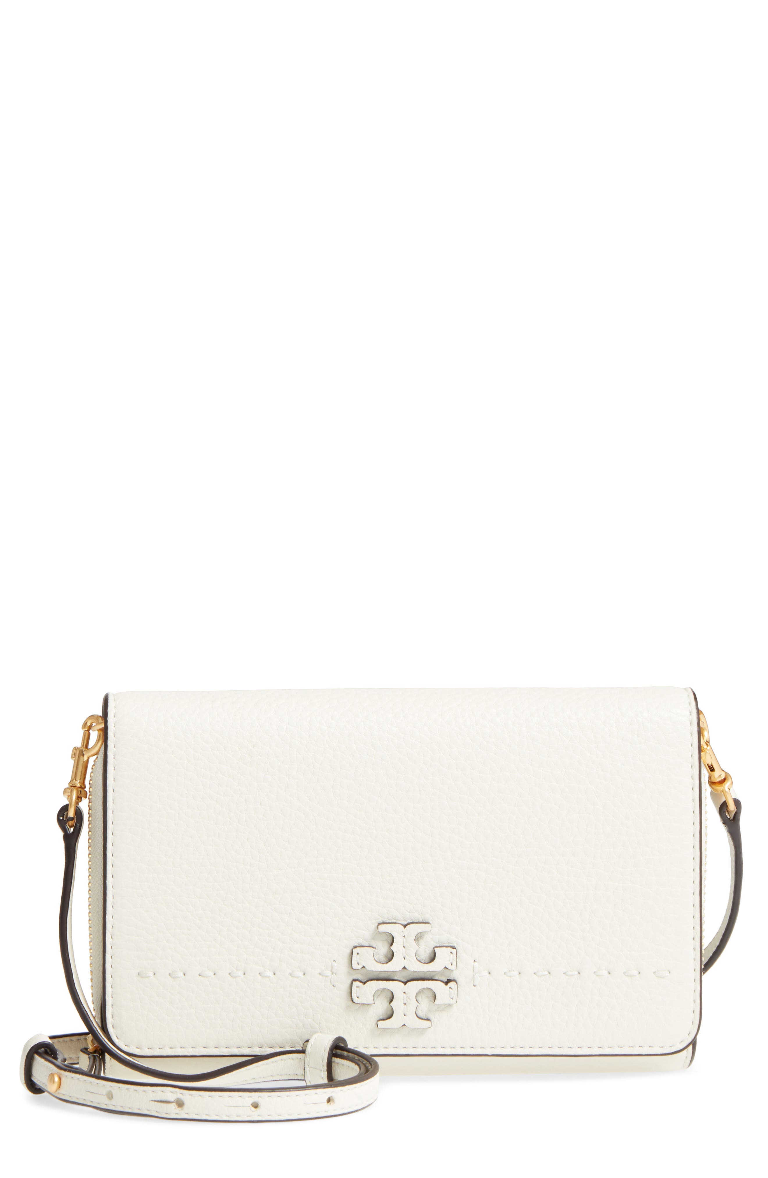 Alternate Image 1 Selected - Tory Burch McGraw Leather Crossbody Wallet