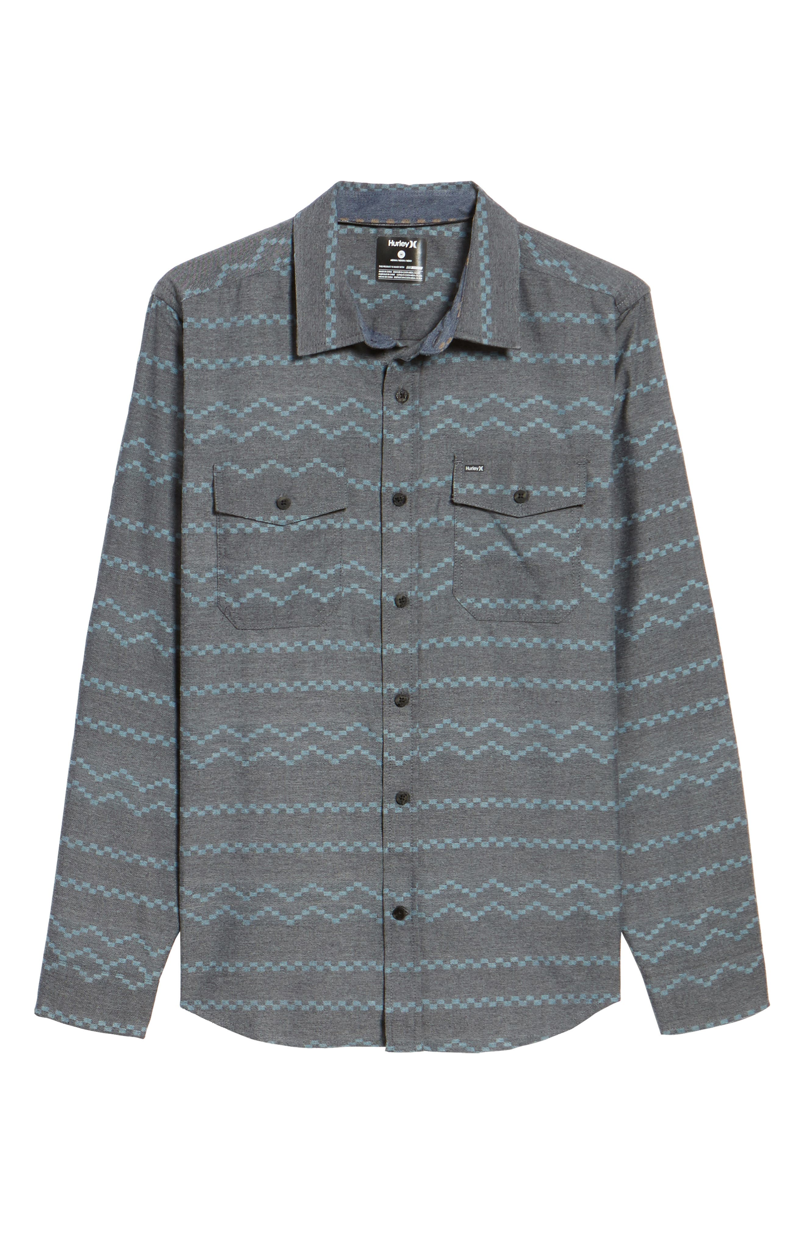 Pismo Dry Flannel Shirt,                             Alternate thumbnail 6, color,                             Black