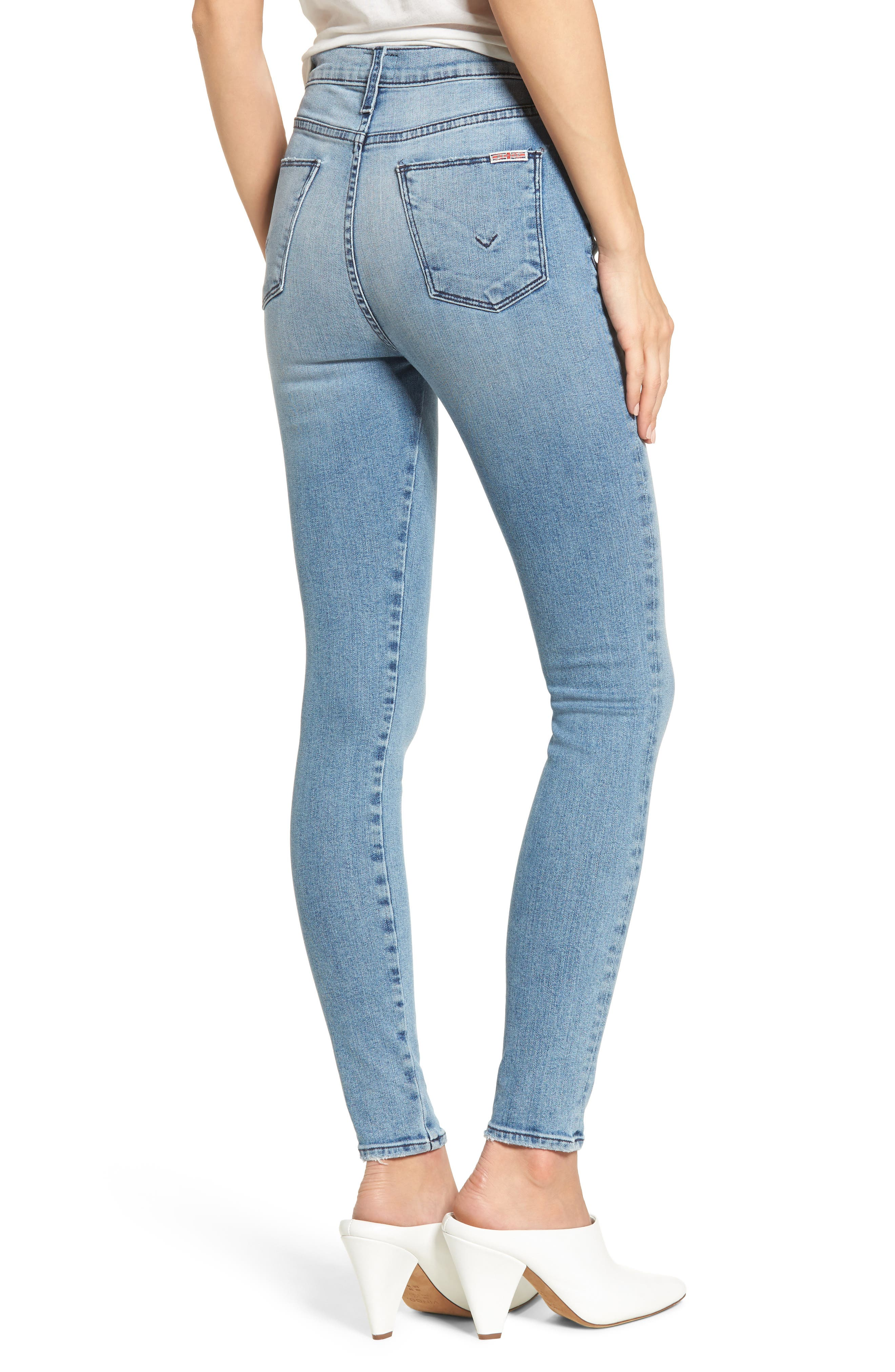 Bullocks Lace-Up High Waist Super Skinny Jeans,                             Alternate thumbnail 2, color,                             Guilty Pleasure
