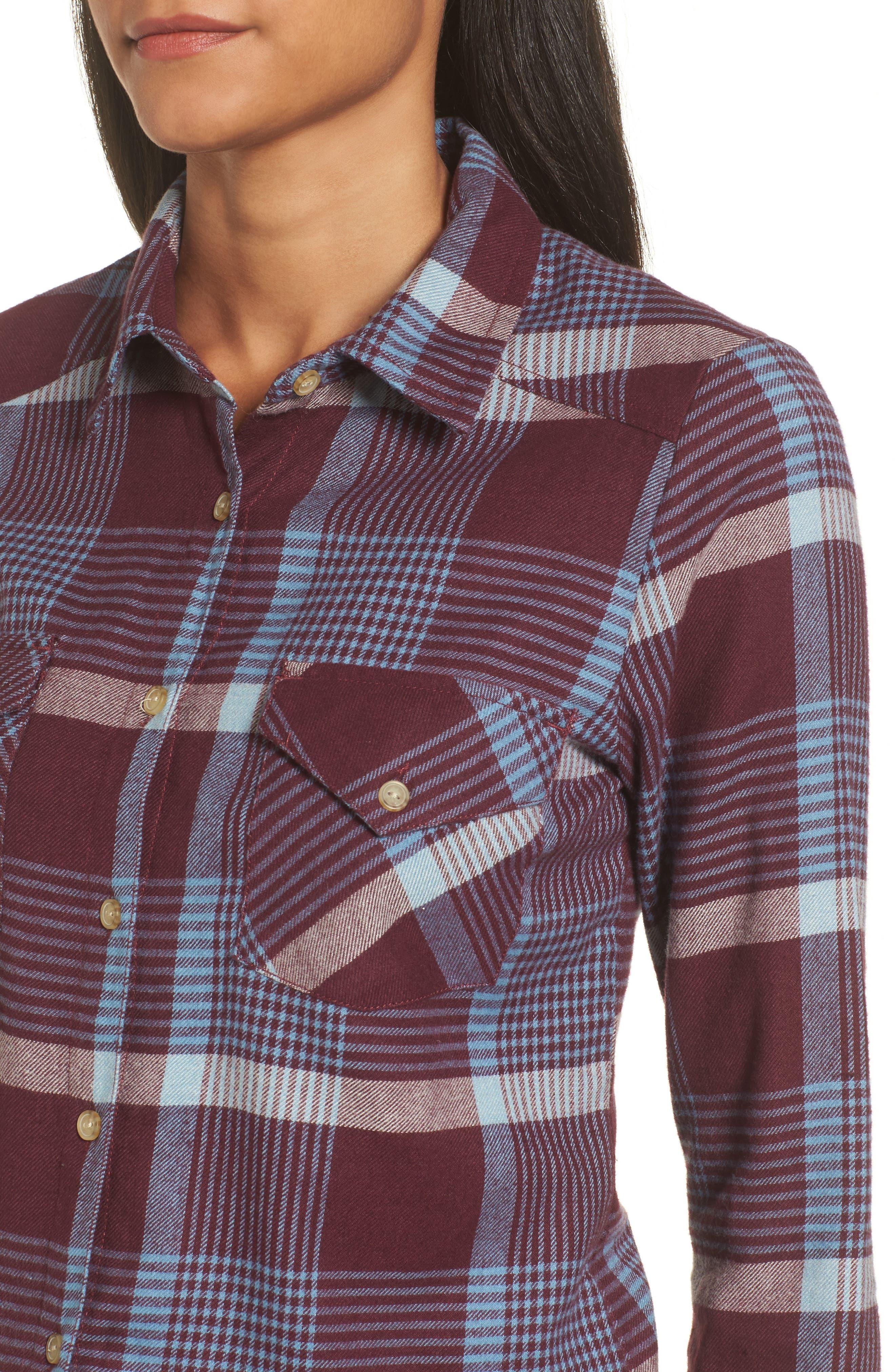 Alternate Image 4  - RVCA Plaid Flannel Shirt